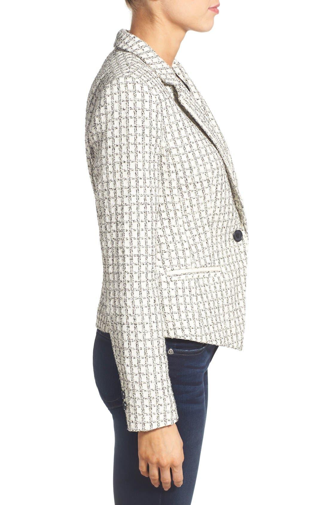 Alternate Image 3  - Halogen® Textured One-Button Blazer (Regular & Petite)
