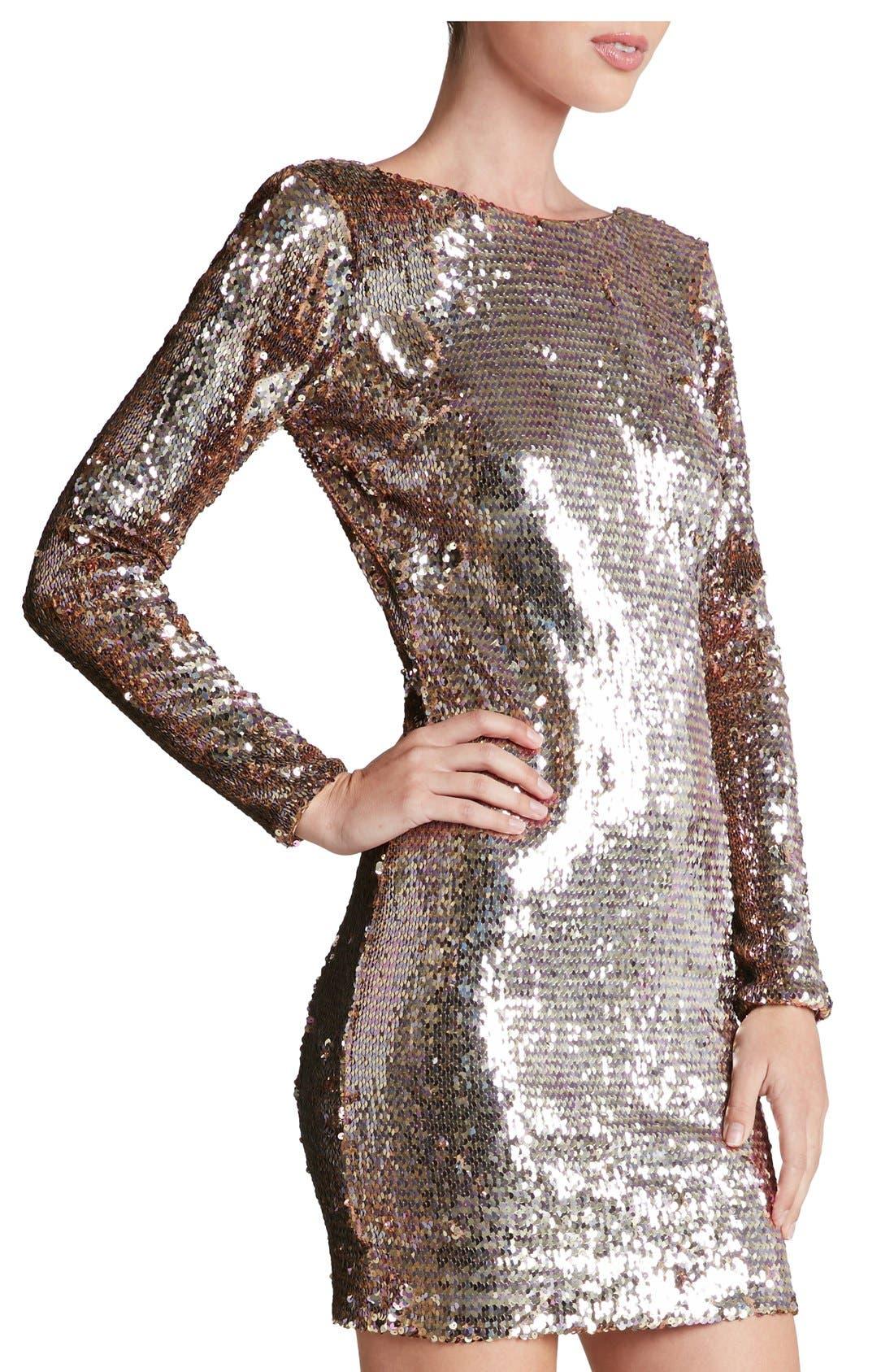 Alternate Image 3  - Dress the Population 'Lola' Backless Sequin Minidress