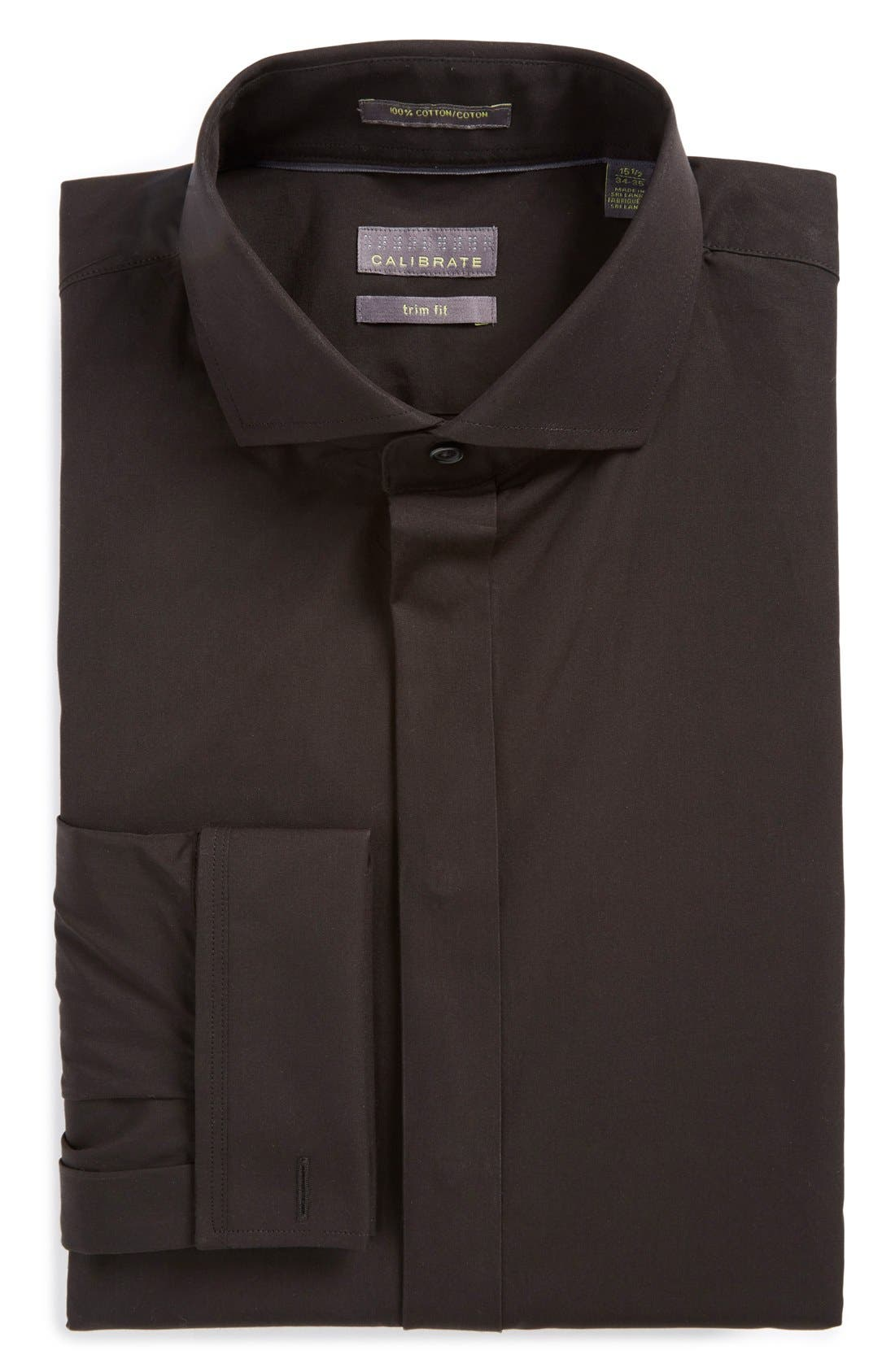 Calibrate Trim Fit Solid Tuxedo Shirt