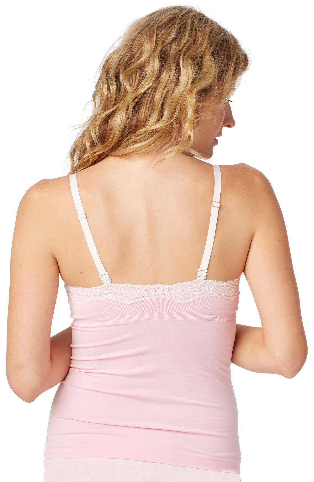 Alternate Image 3  - Rosie Pope Seamless Lace Trim Nursing Maternity Camisole