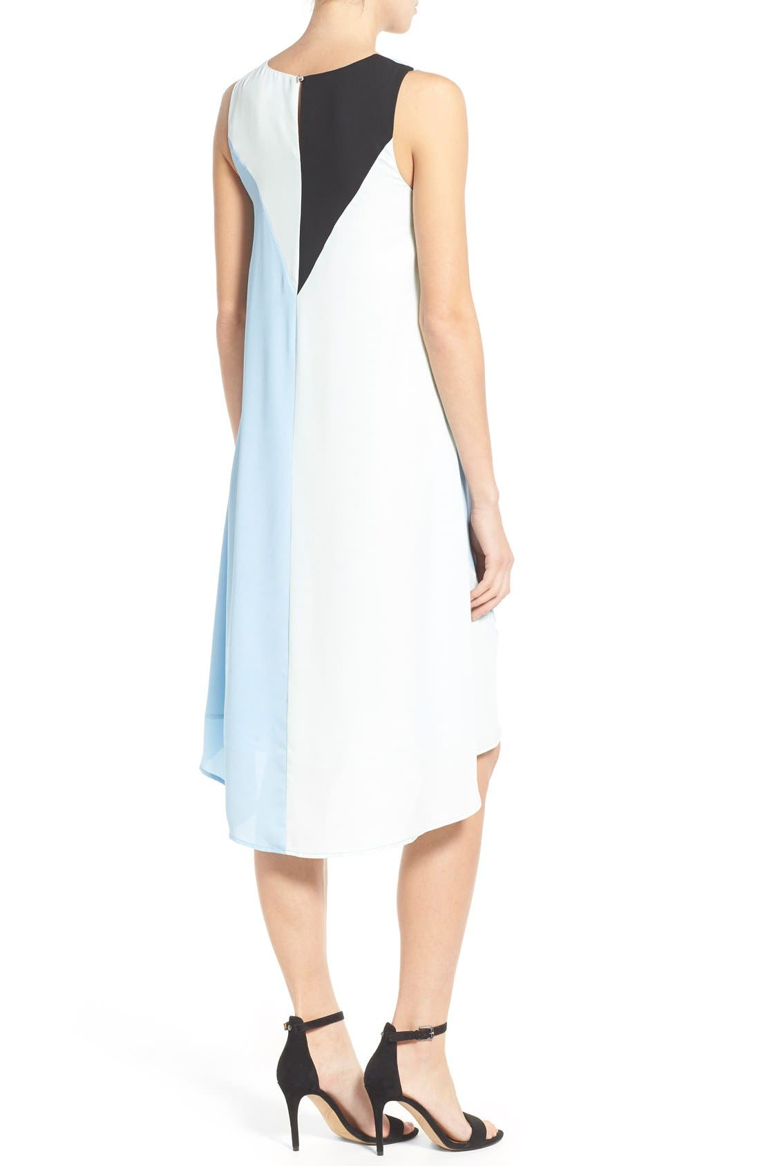 Alternate Image 2  - Vince Camuto Colorblock High/Low Hem Shift Dress (Regular & Petite)