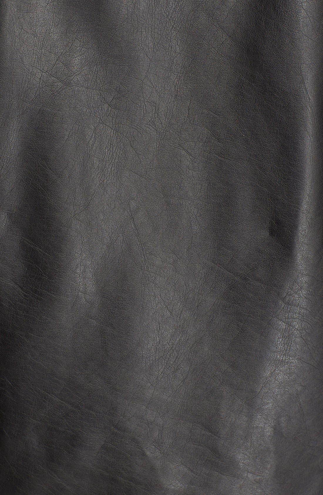 'Exclusive' Faux Leather Jacket,                             Alternate thumbnail 5, color,                             Black