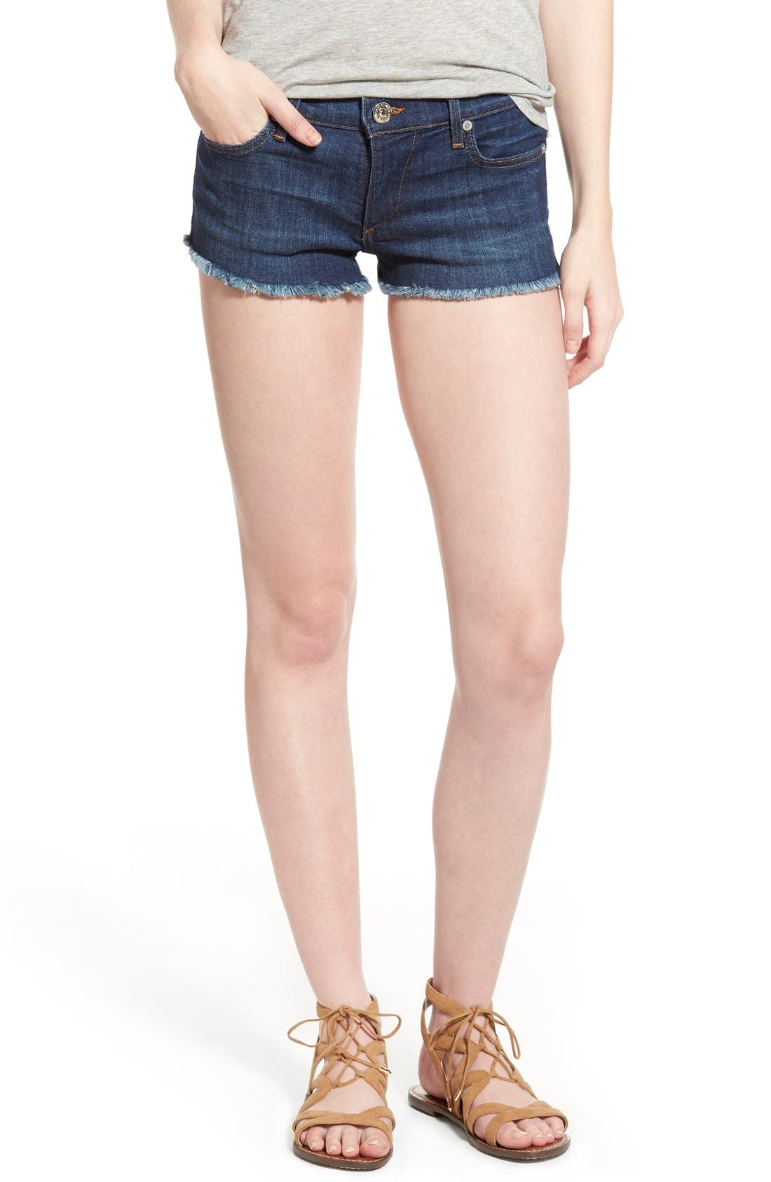 Joey Flap Pocket Cutoff Denim Shorts,                         Main,                         color, Worn Vintage