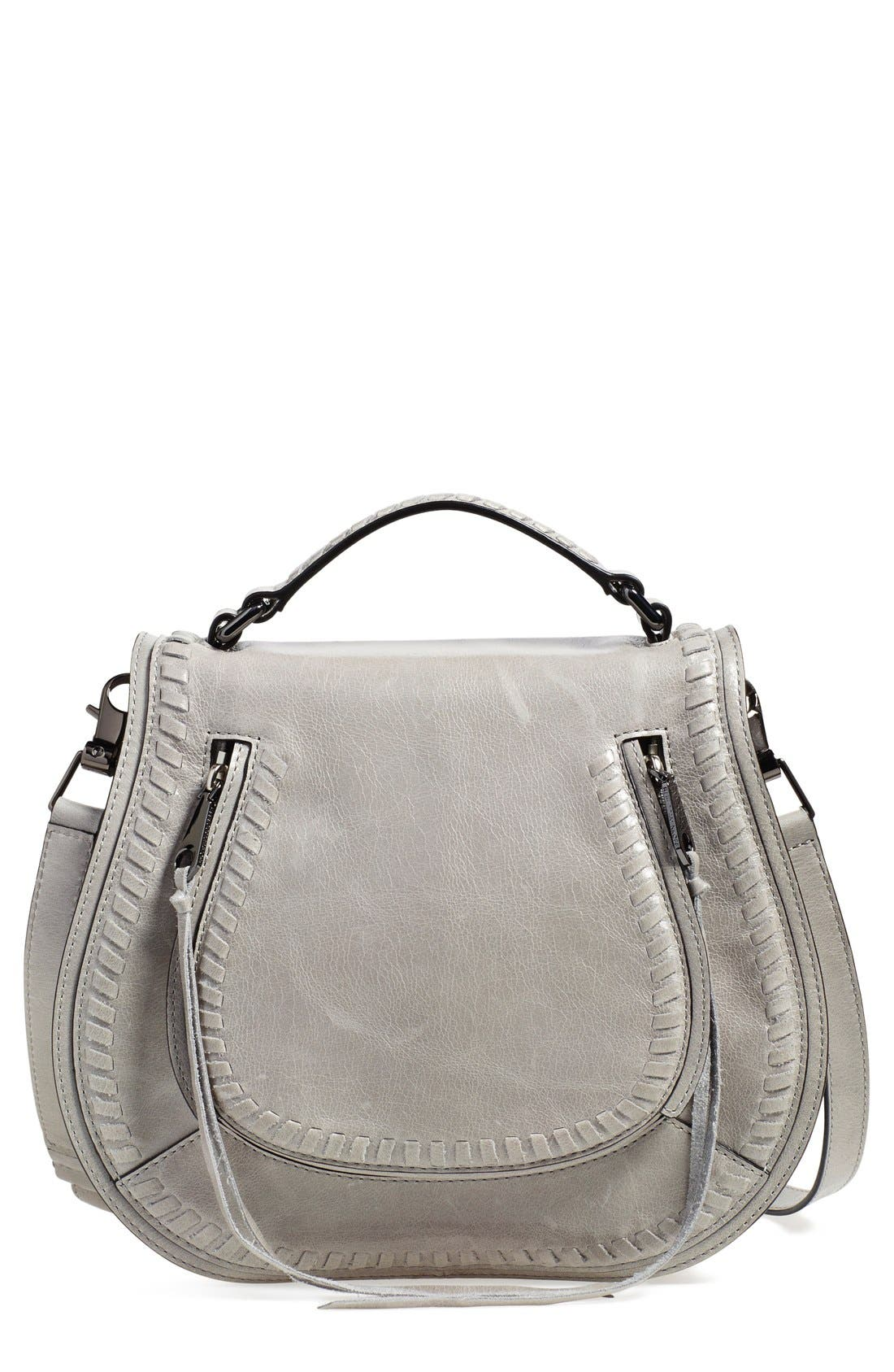 Vanity Saddle Bag,                             Main thumbnail 1, color,                             Cemento/ Silver Hrdwr