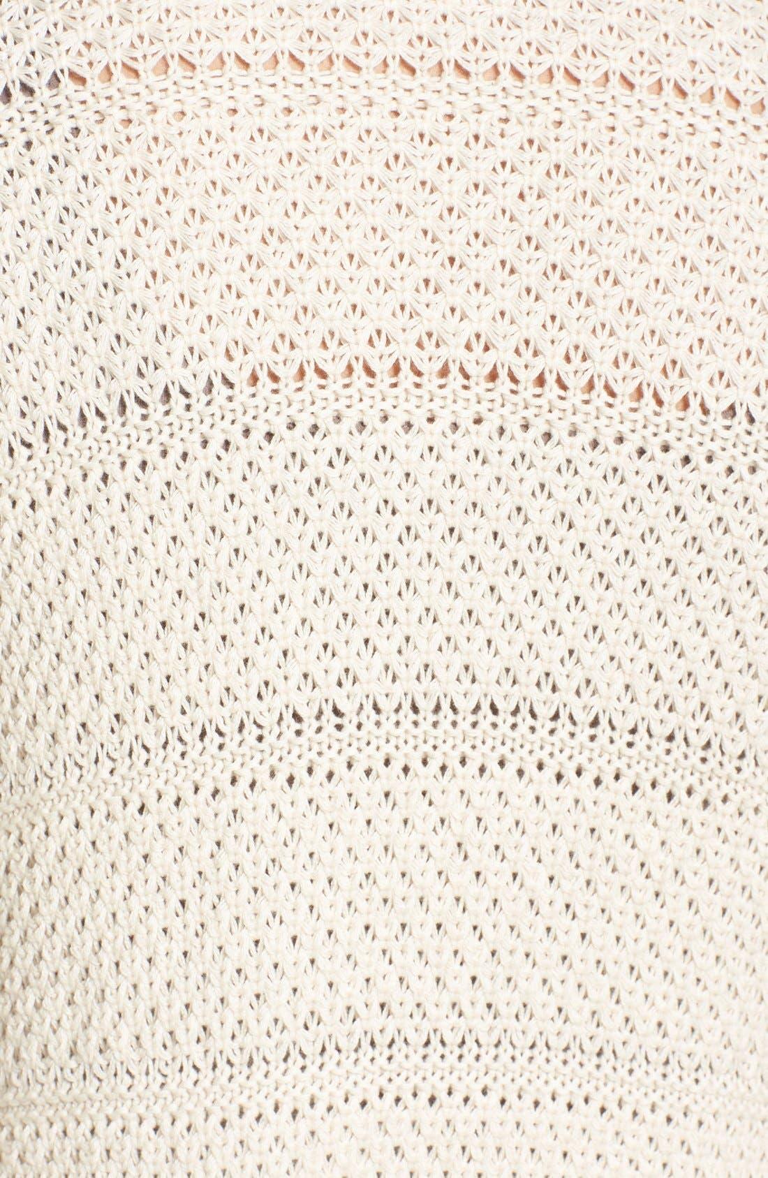 Alternate Image 5  - Caslon® Open Stitch Long Cotton Cardigan (Regular & Petite)