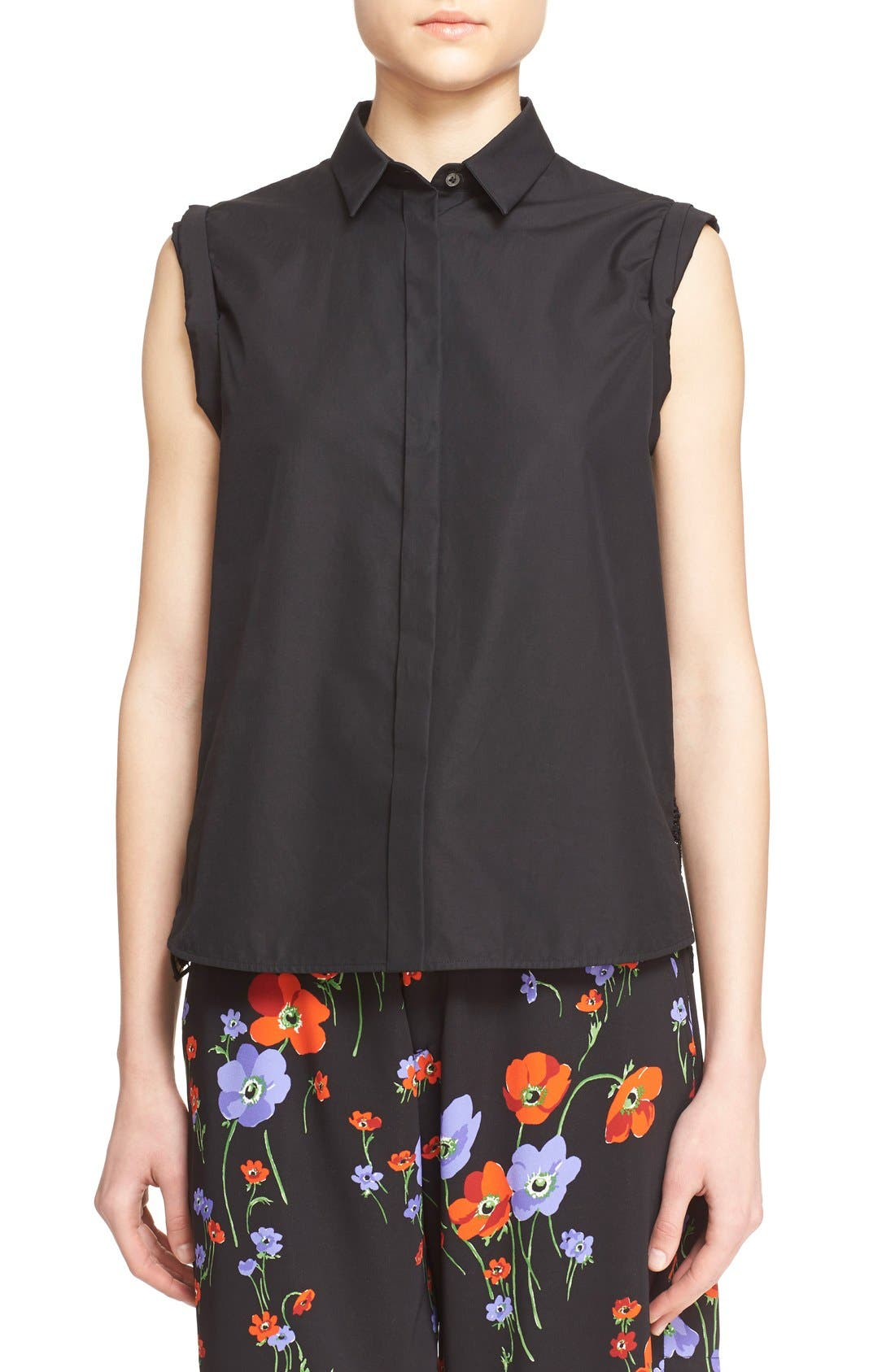 Alternate Image 1 Selected - N°21 'Cassandra' Lace Back Sleeveless Shirt