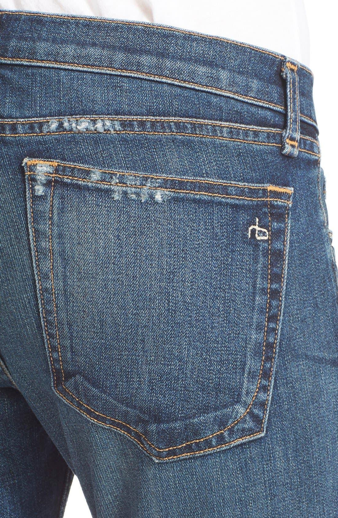 Alternate Image 4  - rag & bone/JEAN 'The Dre' Slim Fit Boyfriend Jeans (Mabel)
