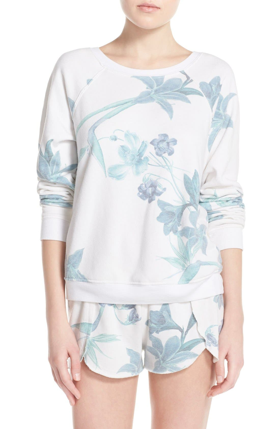 Alternate Image 1 Selected - 35mm 'Jenna' Floral Sweatshirt