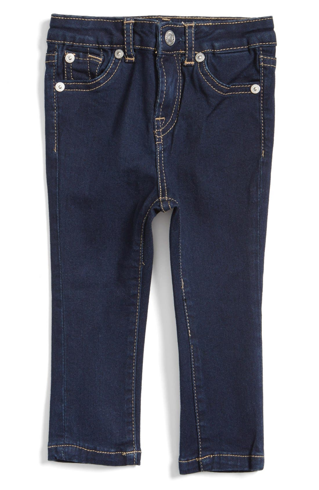 Main Image - 7 For All Mankind® Skinny Fit Jeans (Baby Girls)