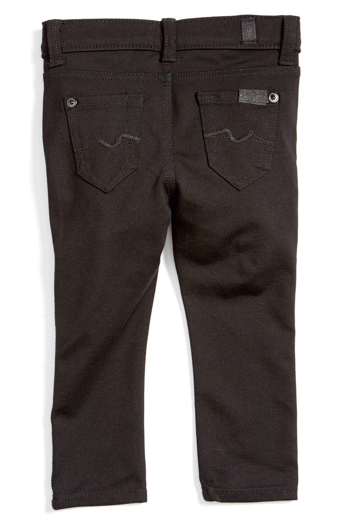Alternate Image 2  - 7 For All Mankind® Skinny Fit Jeans (Baby)