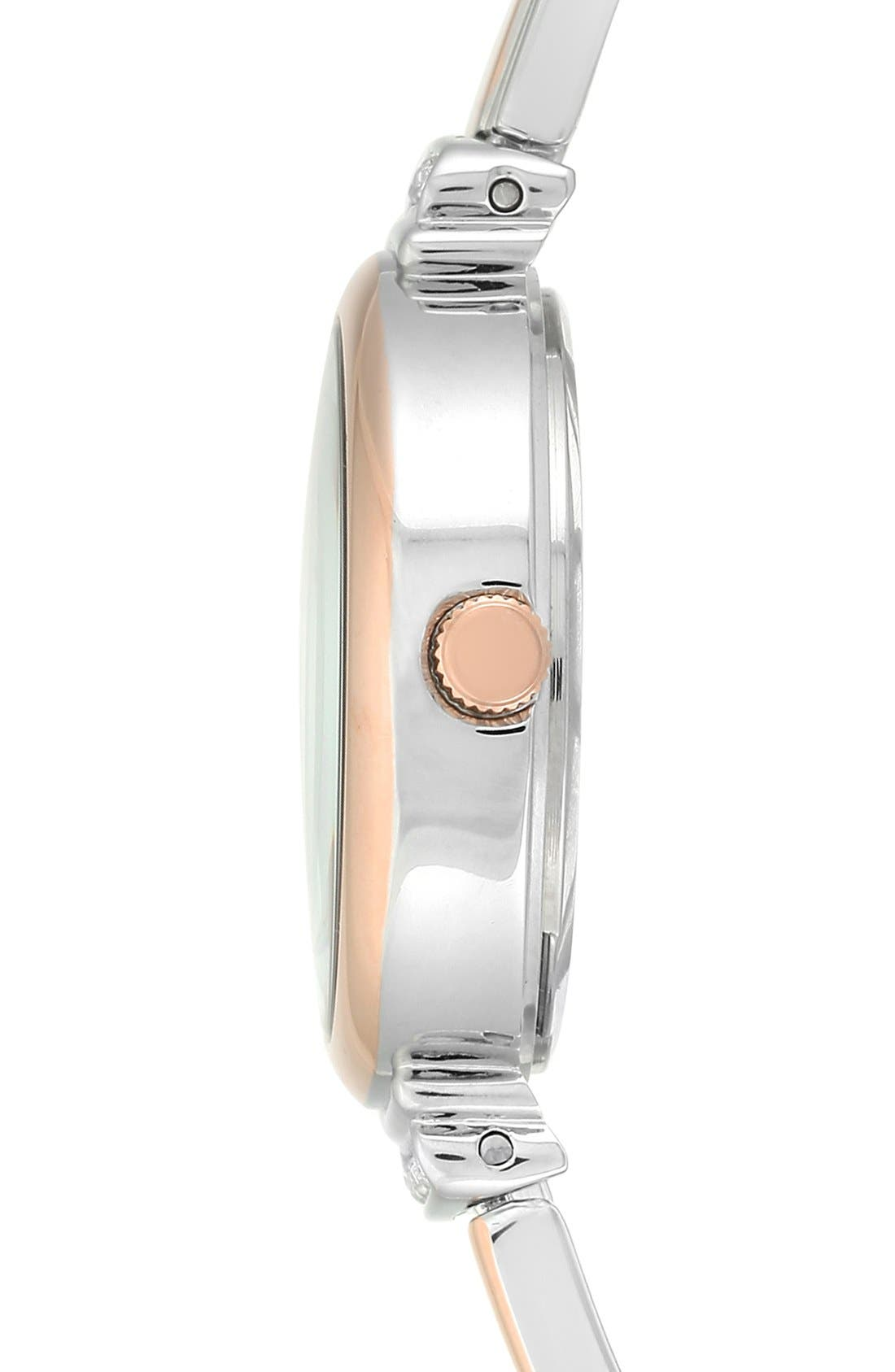 Round Watch & Bangle Set, 26mm,                             Alternate thumbnail 2, color,                             Rose Gold/ Silver