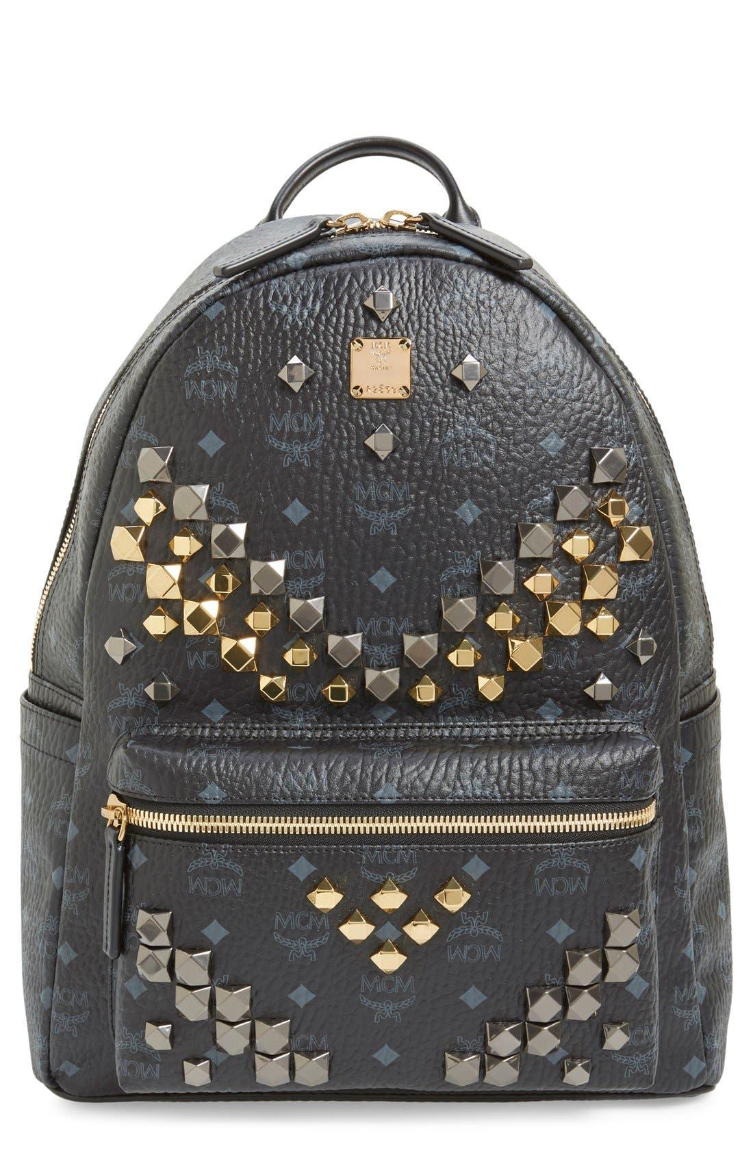 Main Image - MCM 'Medium Stark - Visetos' Studded Backpack