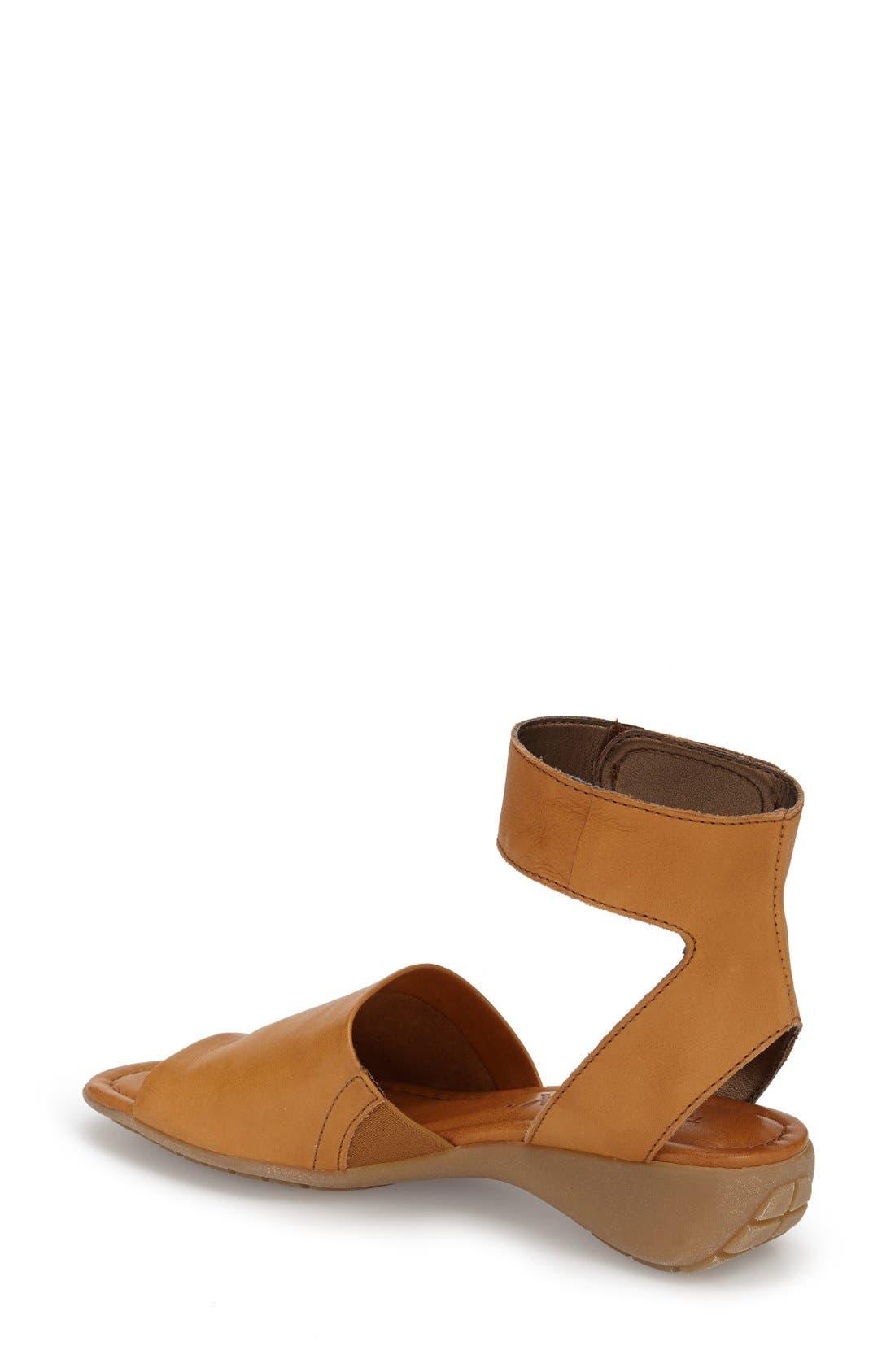 'Beglad' Leather Ankle Strap Sandal,                             Alternate thumbnail 2, color,                             Virginia Brown Leather