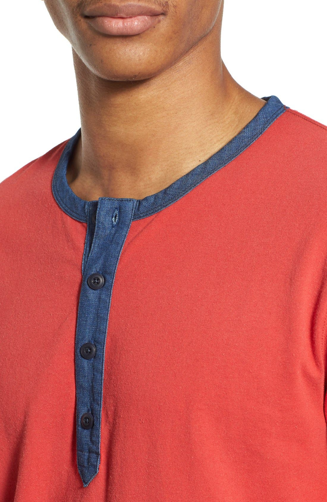 Alternate Image 4  - Lucky Brand 'Fashion' Long Sleeve Henley