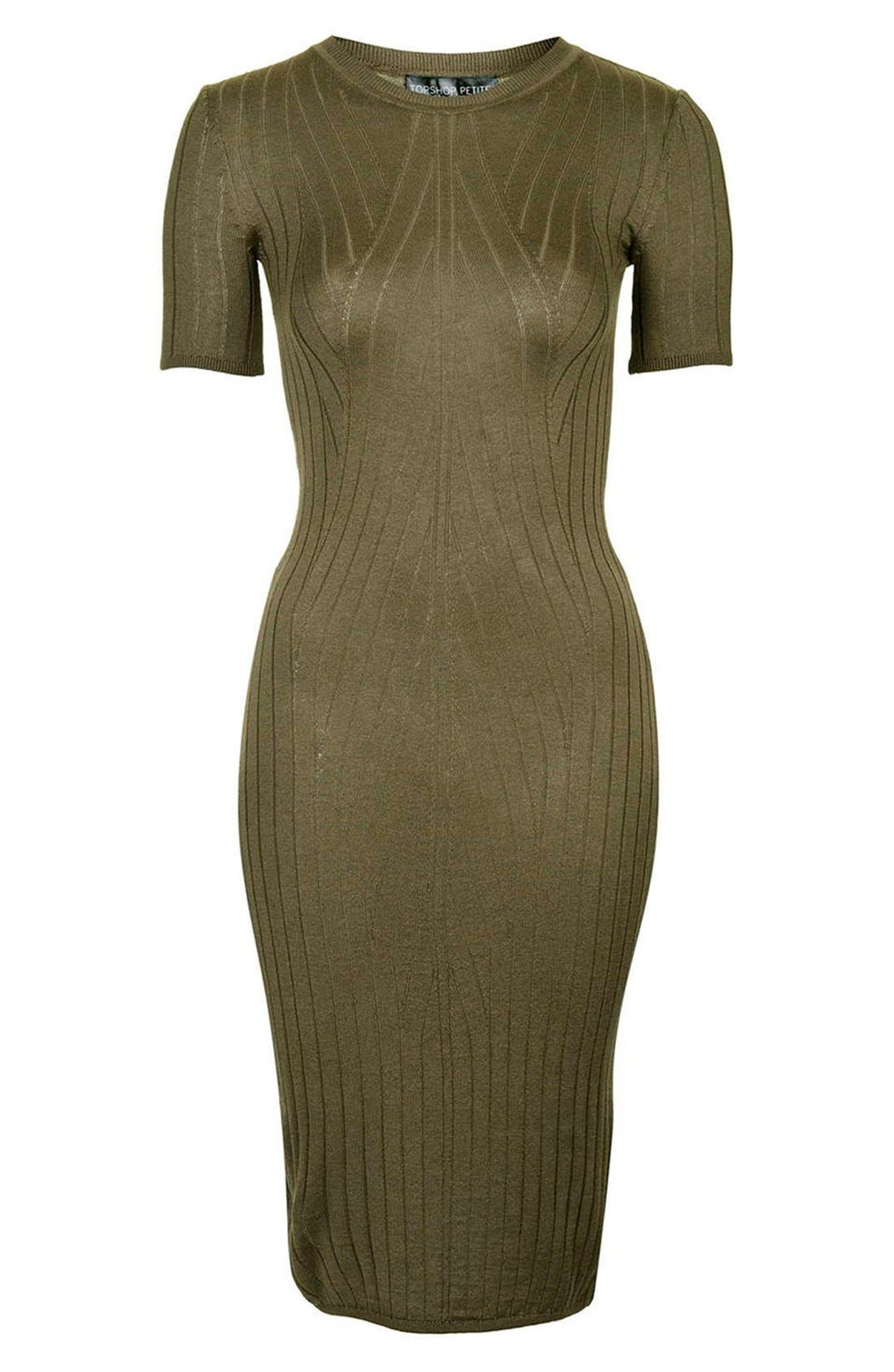 Alternate Image 3  - Topshop Travelling Ribbed Midi Dress (Petite)