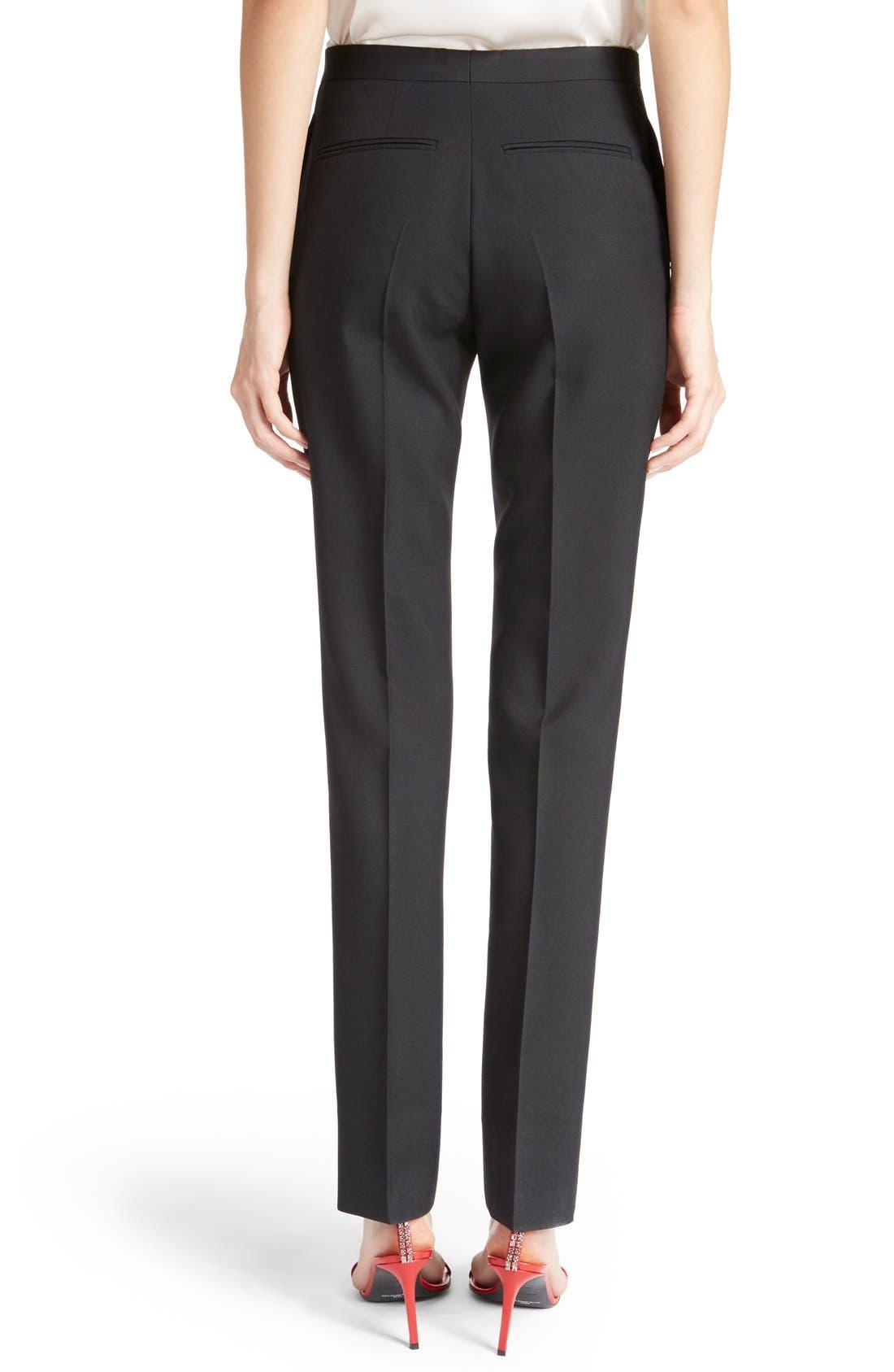 Alternate Image 2  - Saint Laurent Skinny Wool Gabardine Pants