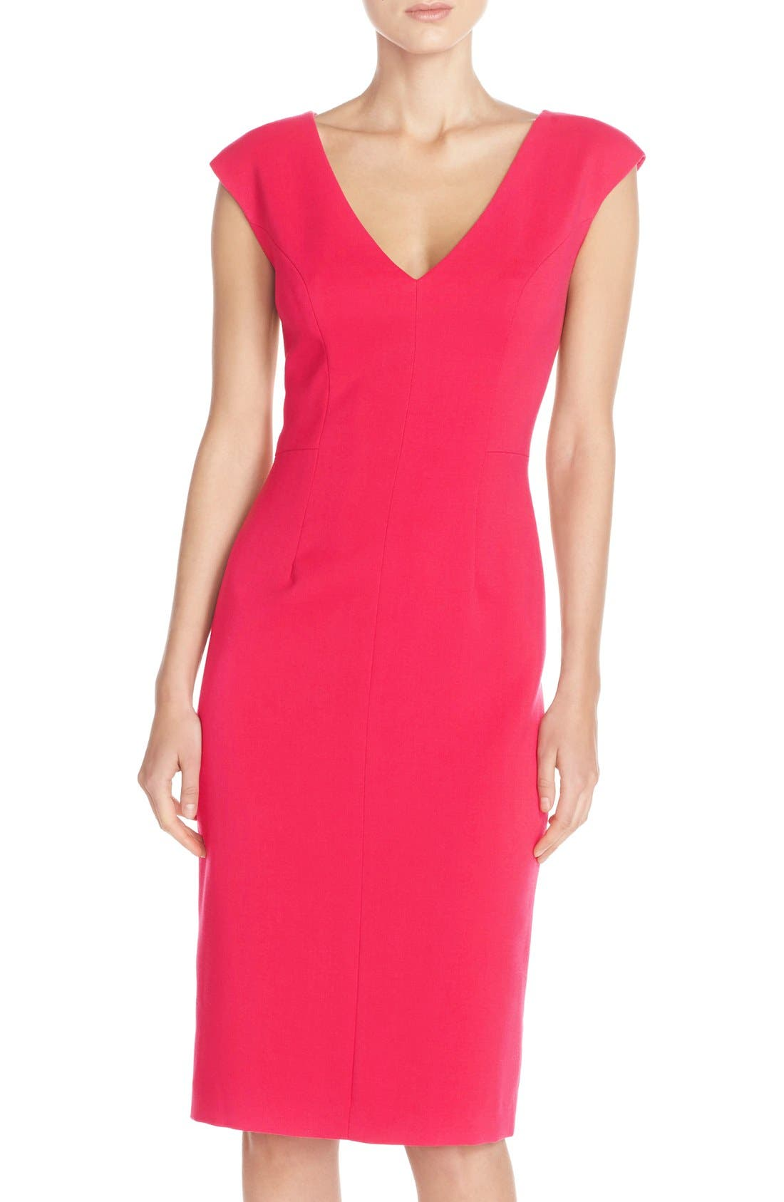 Alternate Image 1 Selected - Eliza J Crepe Sheath Dress (Regular & Petite)