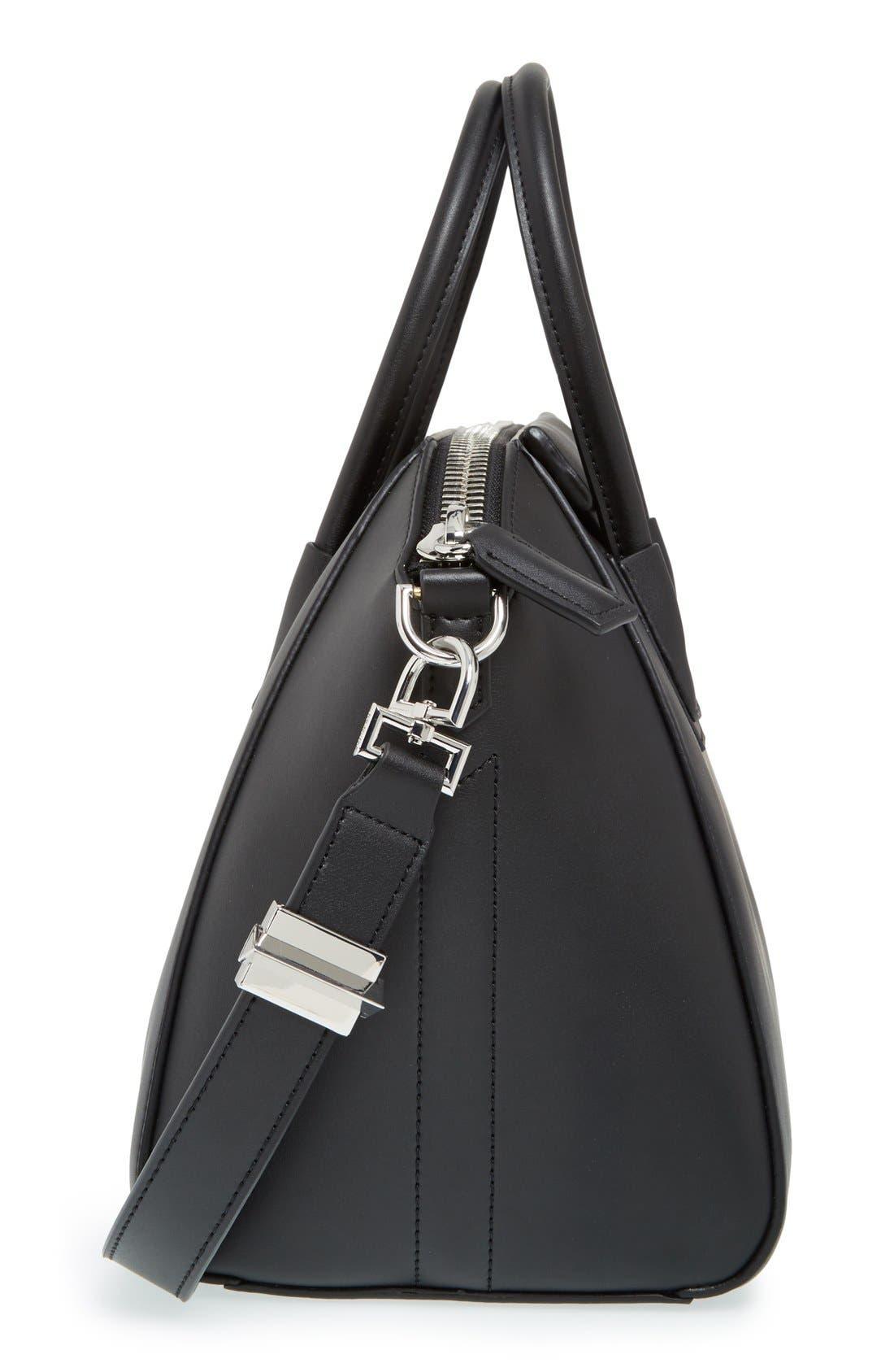 'Medium Antigona' Leather Satchel,                             Alternate thumbnail 5, color,                             Black