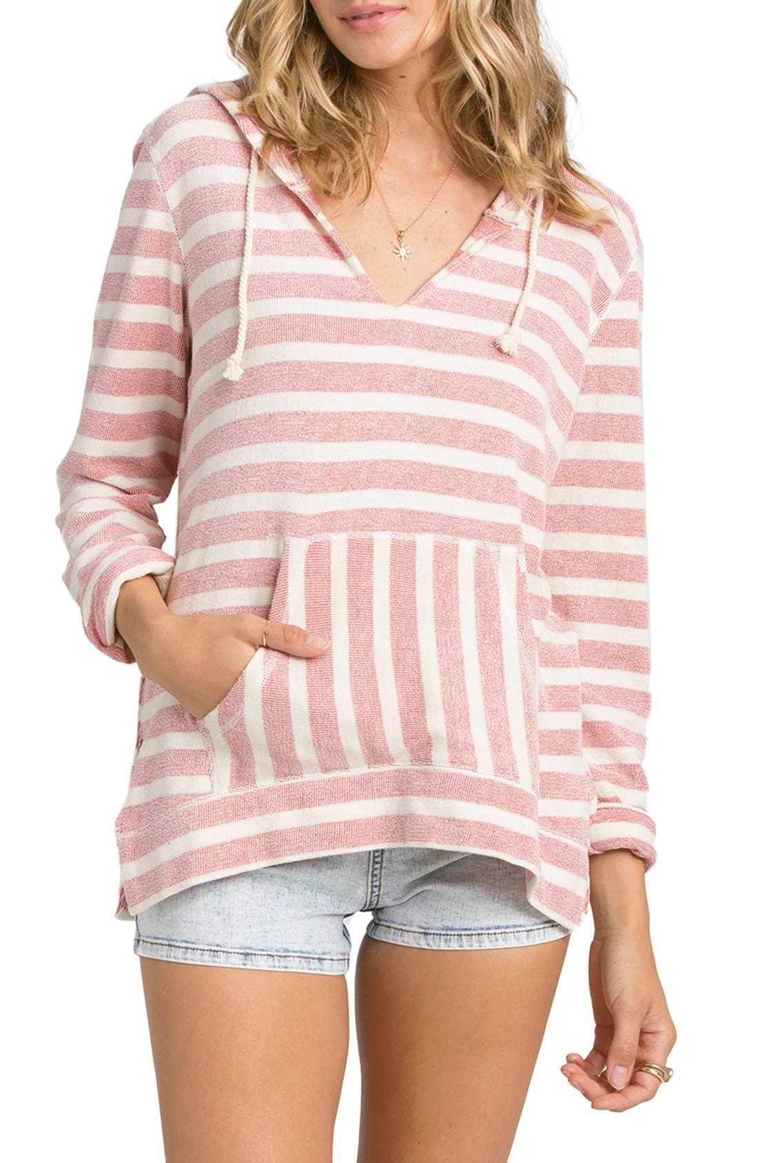 Alternate Image 1 Selected - Billabong 'Say Now' Stripe Hoodie