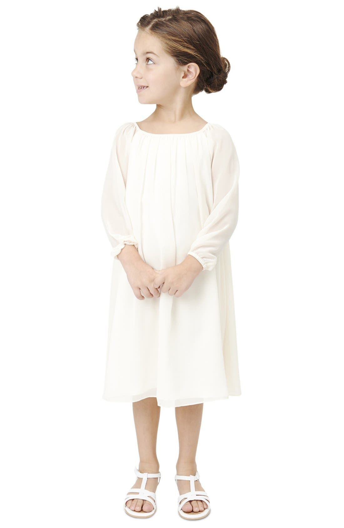 Main Image - Babes of the Nile by Joanna August Long Sleeve Chiffon Midi Dress (Toddler Girls, Little Girls & Big Girls)