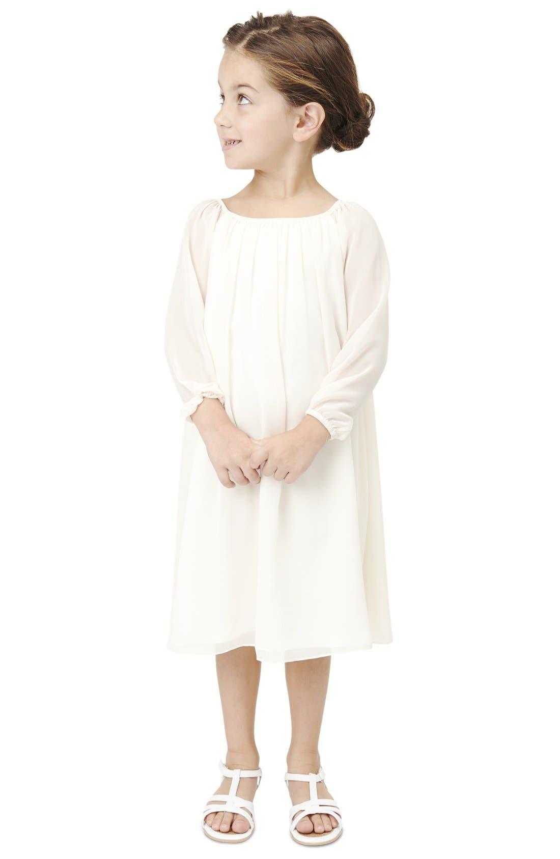 Long Sleeve Chiffon Midi Dress,                         Main,                         color, Going To The Chapel