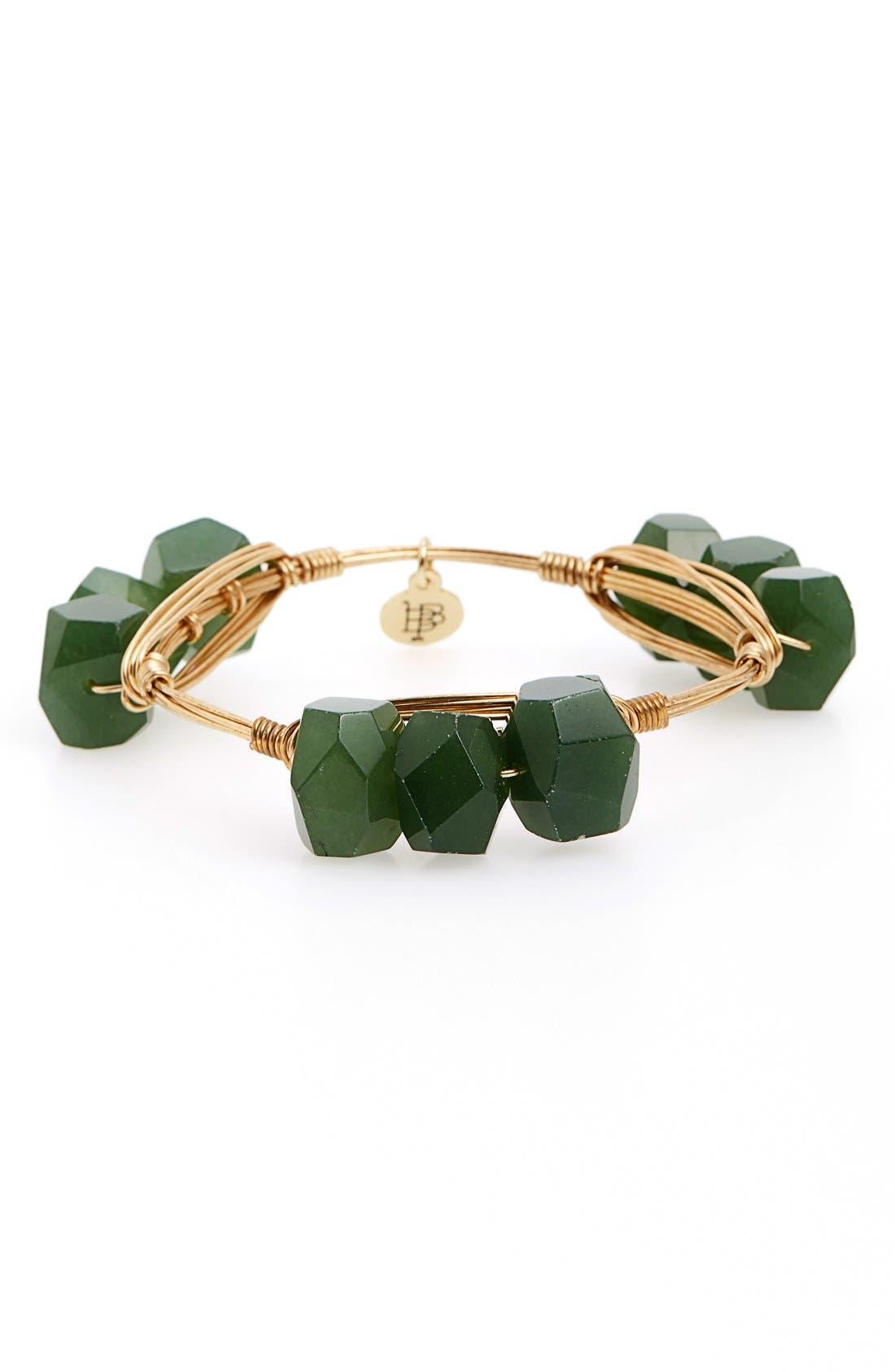 Alternate Image 1 Selected - Bourbon and Boweties Triple Stone Bracelet