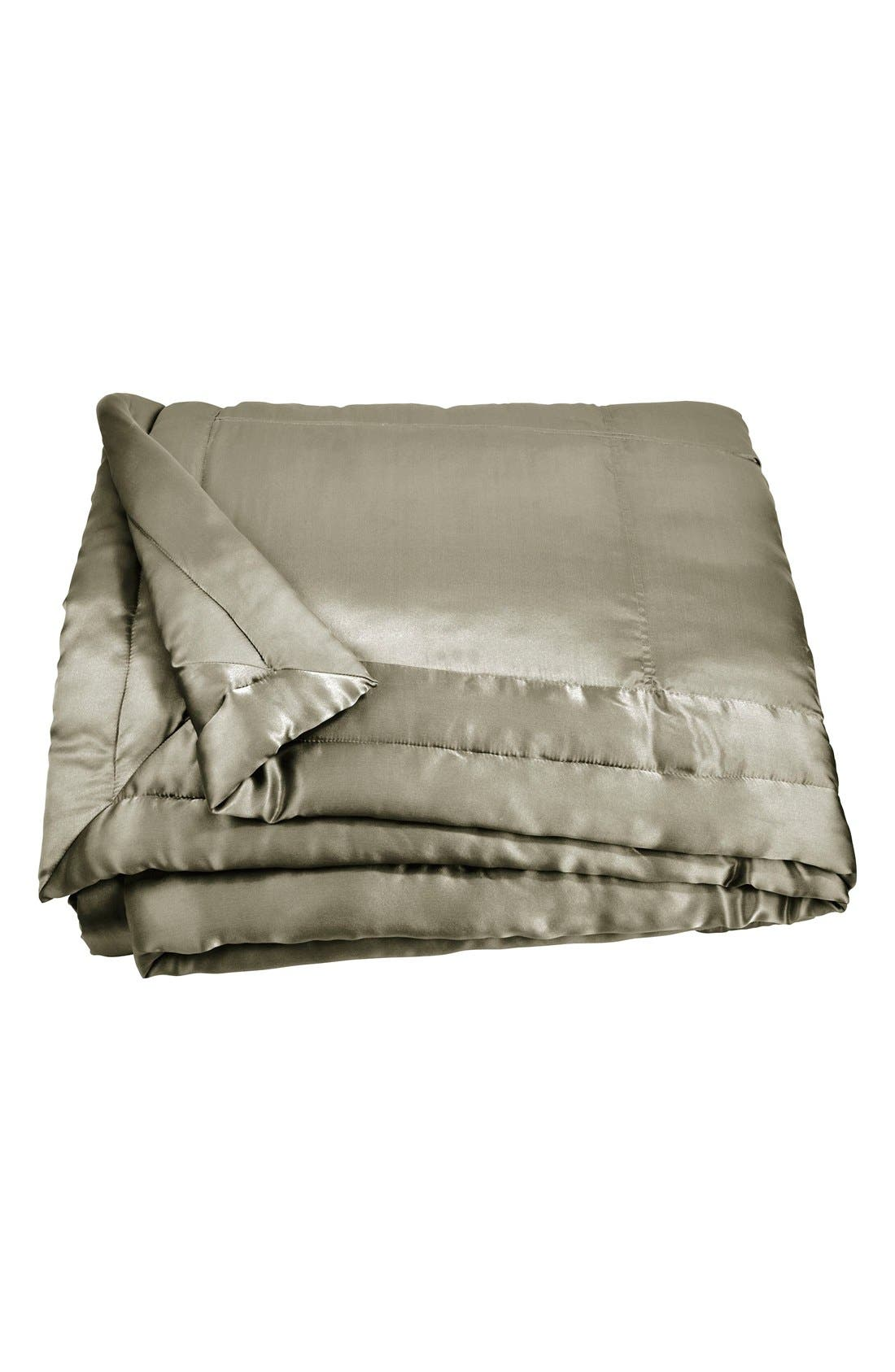Donna Karan Collection 'Exhale' Silk Charmeuse Quilt,                         Main,                         color, Moss
