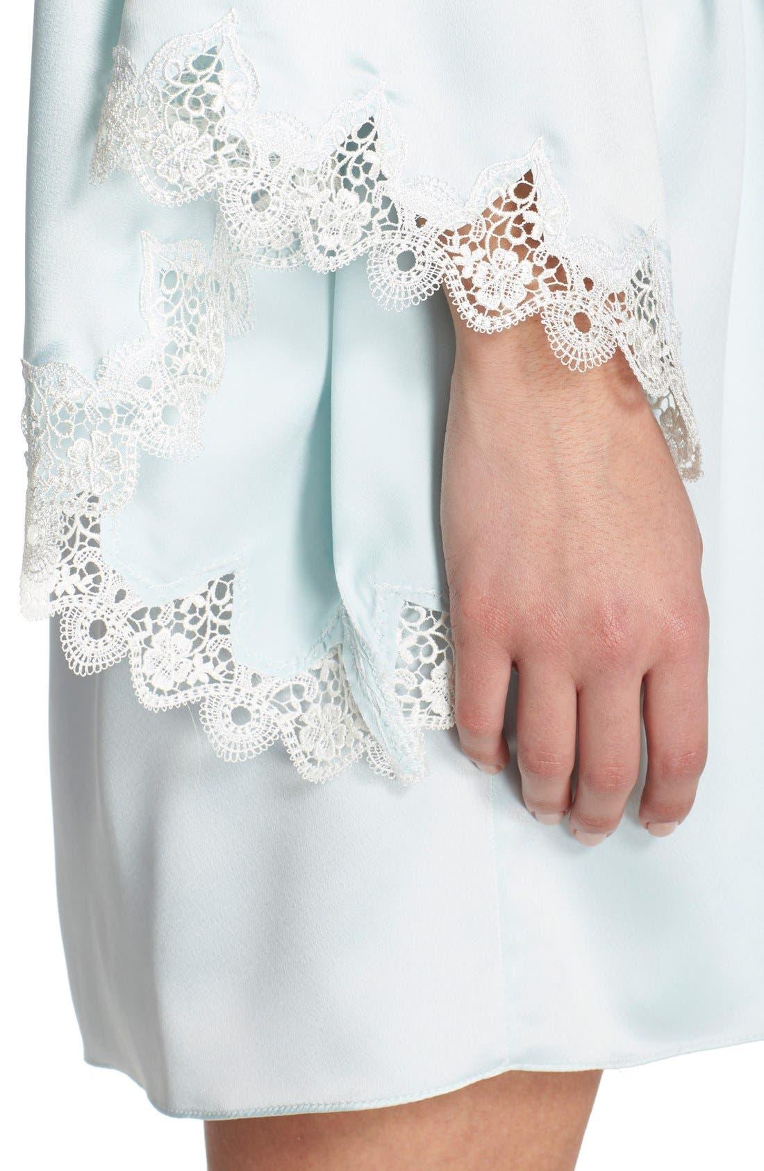 Alternate Image 4  - Flora Nikrooz 'Dahlia' Charmeuse Robe