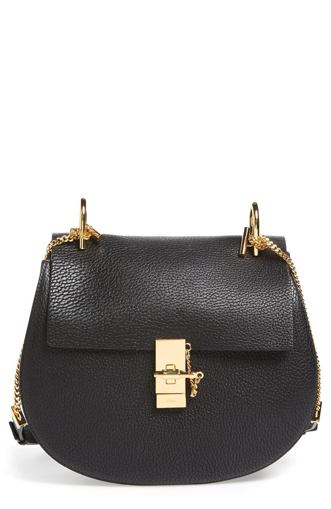 Alternate Image 1 Selected - Chloé 'Drew' Lambskin Leather Shoulder Bag