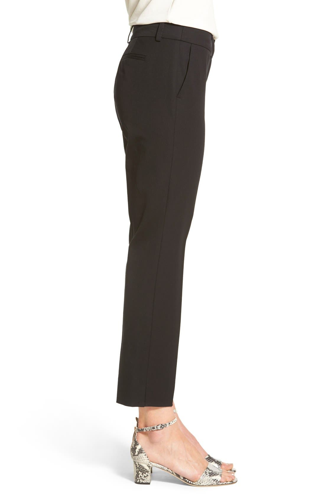 Alternate Image 6  - Halogen® Crop Stretch Cotton Pants (Regular & Petite)