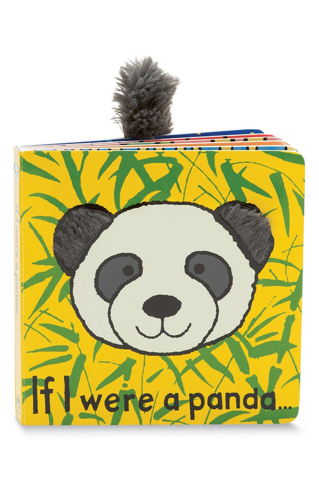 'If I Were a Panda' Board Book,                             Main thumbnail 1, color,                             Yellow/ Black
