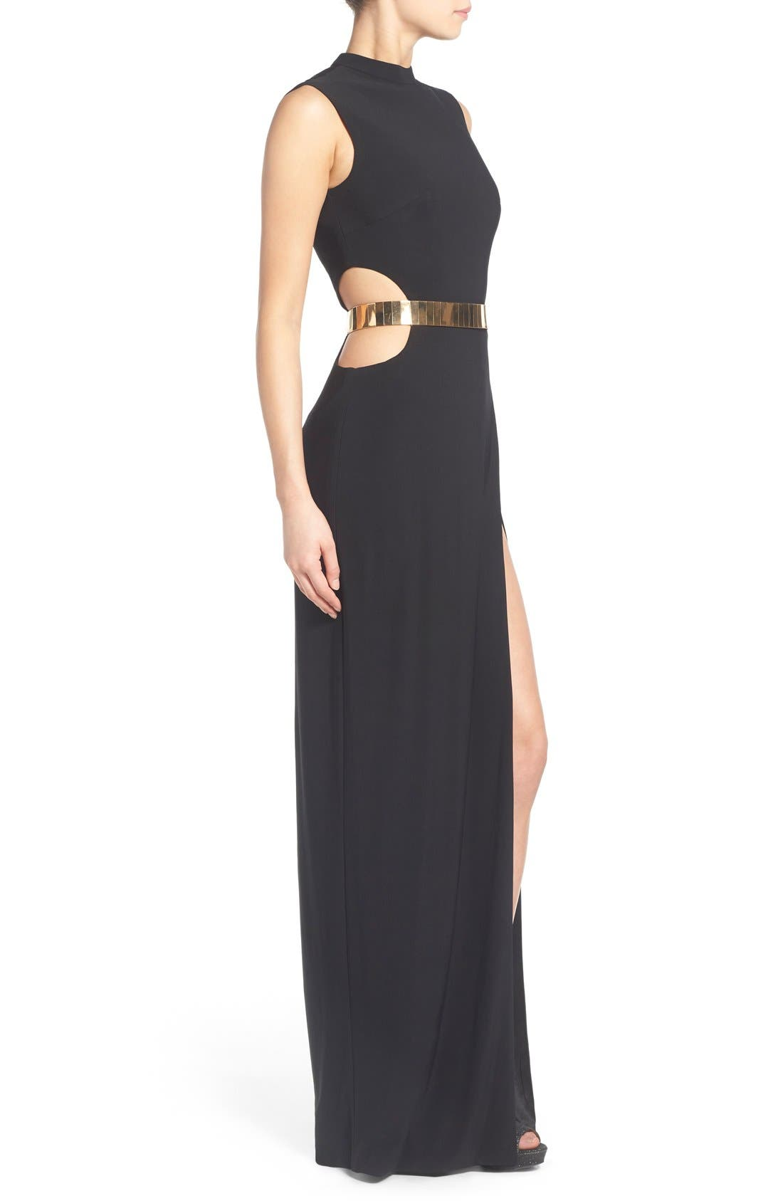 Alternate Image 3  - Mac Duggal Belted Side Cutout Gown