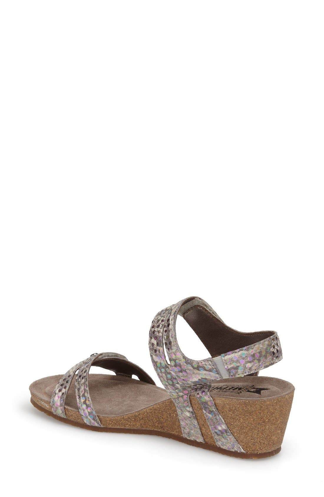 'Minoa' Wedge Sandal,                             Alternate thumbnail 2, color,                             Light Grey Mimosa