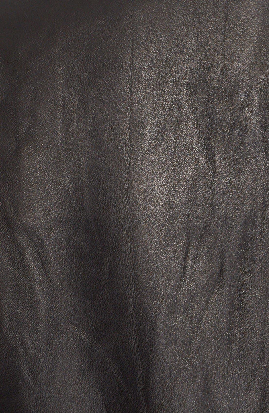 'Ashville' Leather Jacket,                             Alternate thumbnail 5, color,                             Black