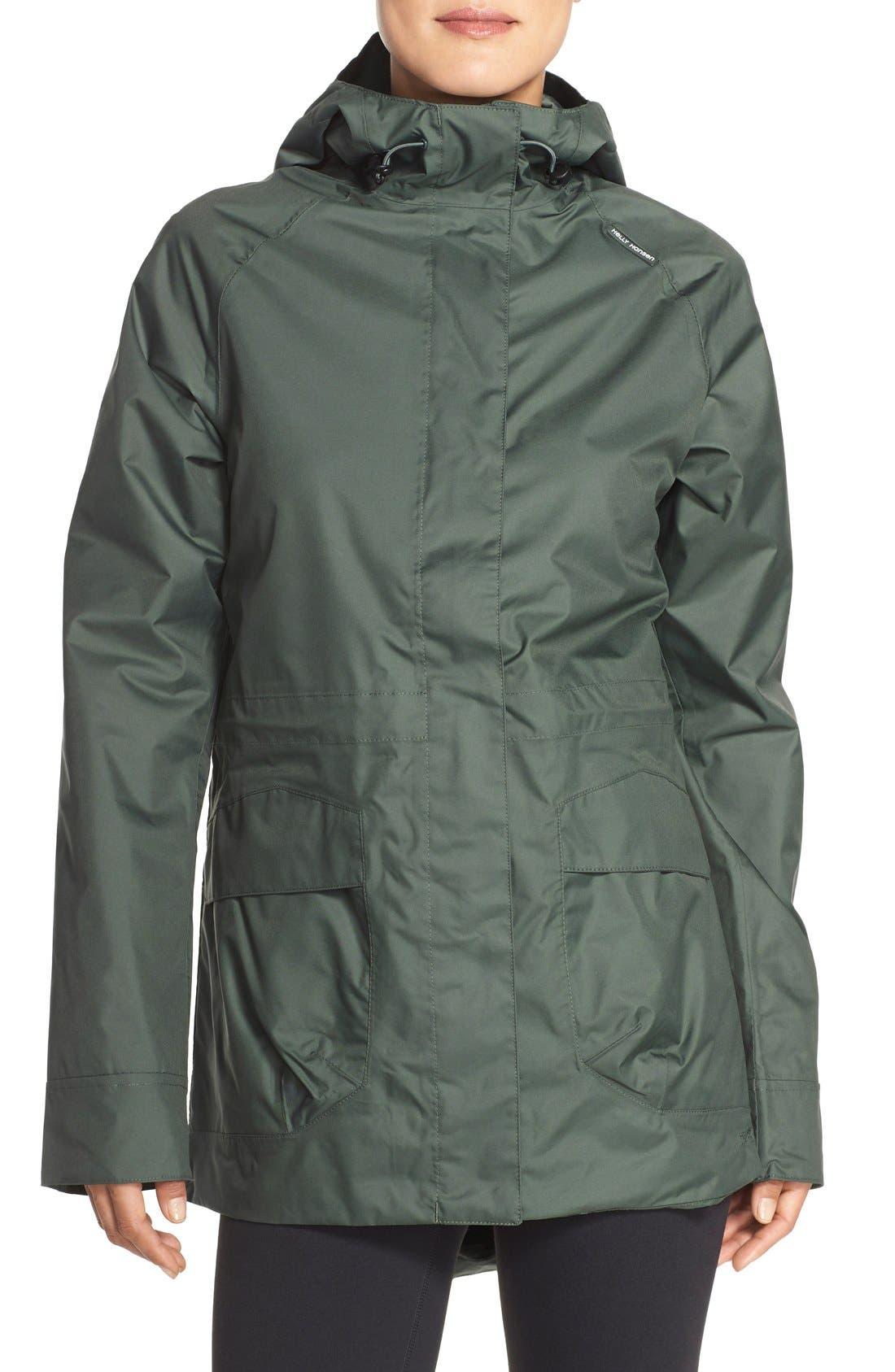 'Appleton' Waterproof Coat,                             Main thumbnail 1, color,                             Rock