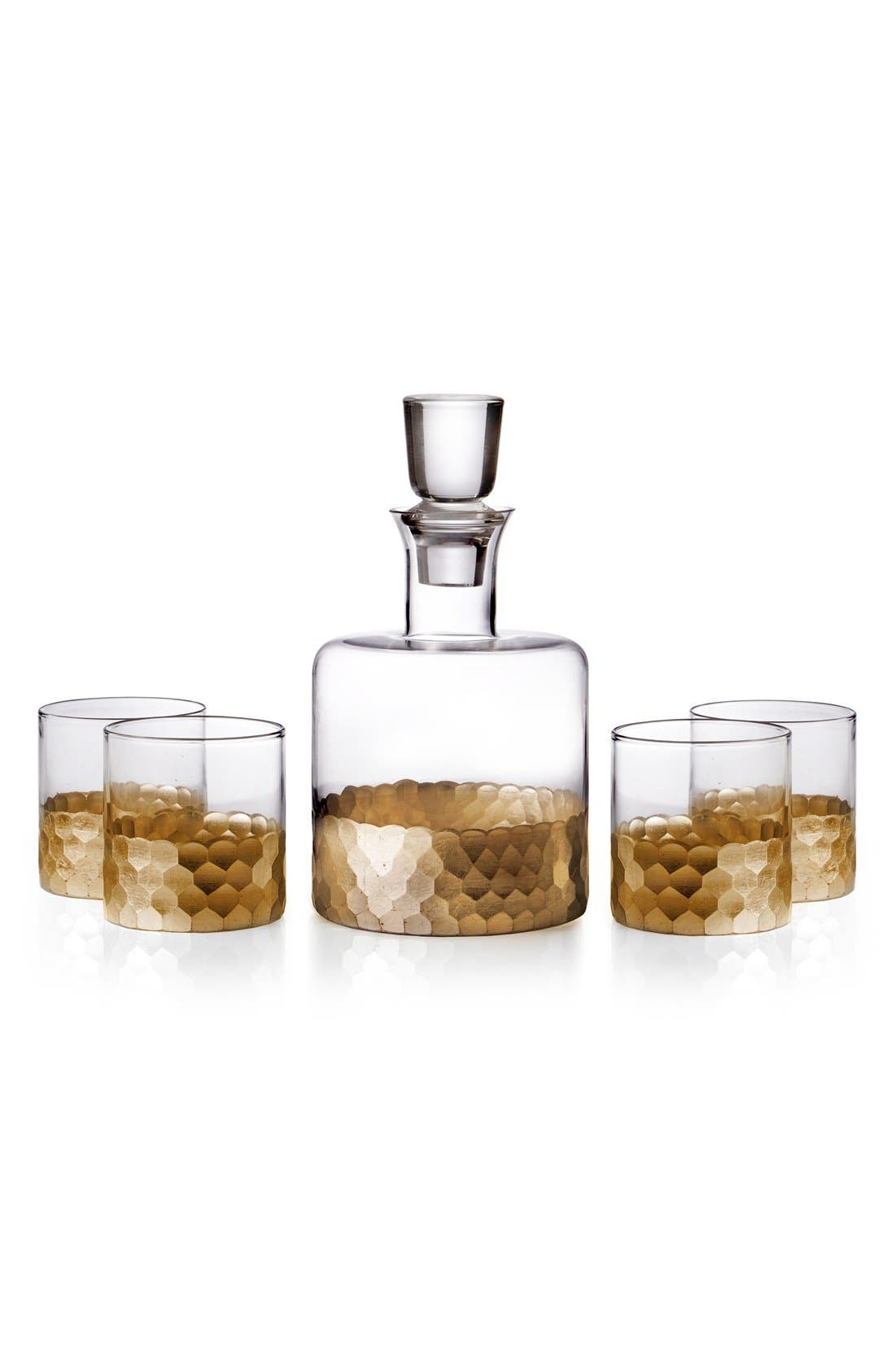 Alternate Image 1 Selected - American Atelier 'Daphne' Decanter & Whiskey Glasses (Set of 5)