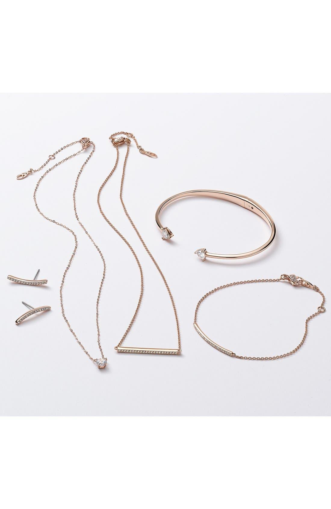 Alternate Image 2  - Nadri Pavé Curved Bar Stud Earrings