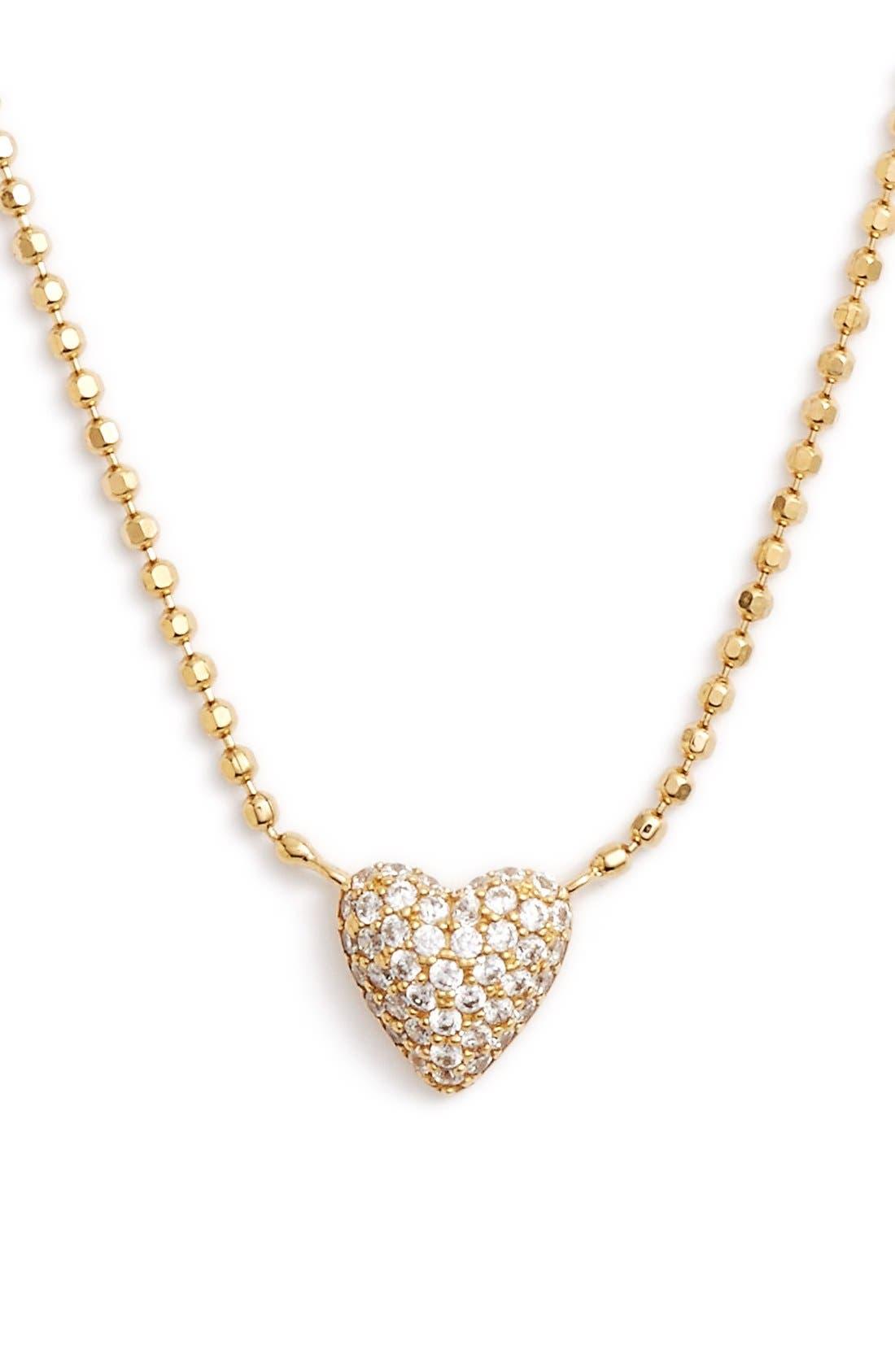 Alternate Image 1 Selected - Nadri 'Valentine's Day' Heart Pendant Necklace