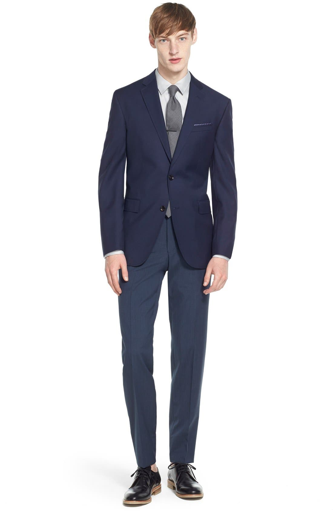 Trevi Trim Fit Wool Blazer,                             Alternate thumbnail 7, color,                             Navy