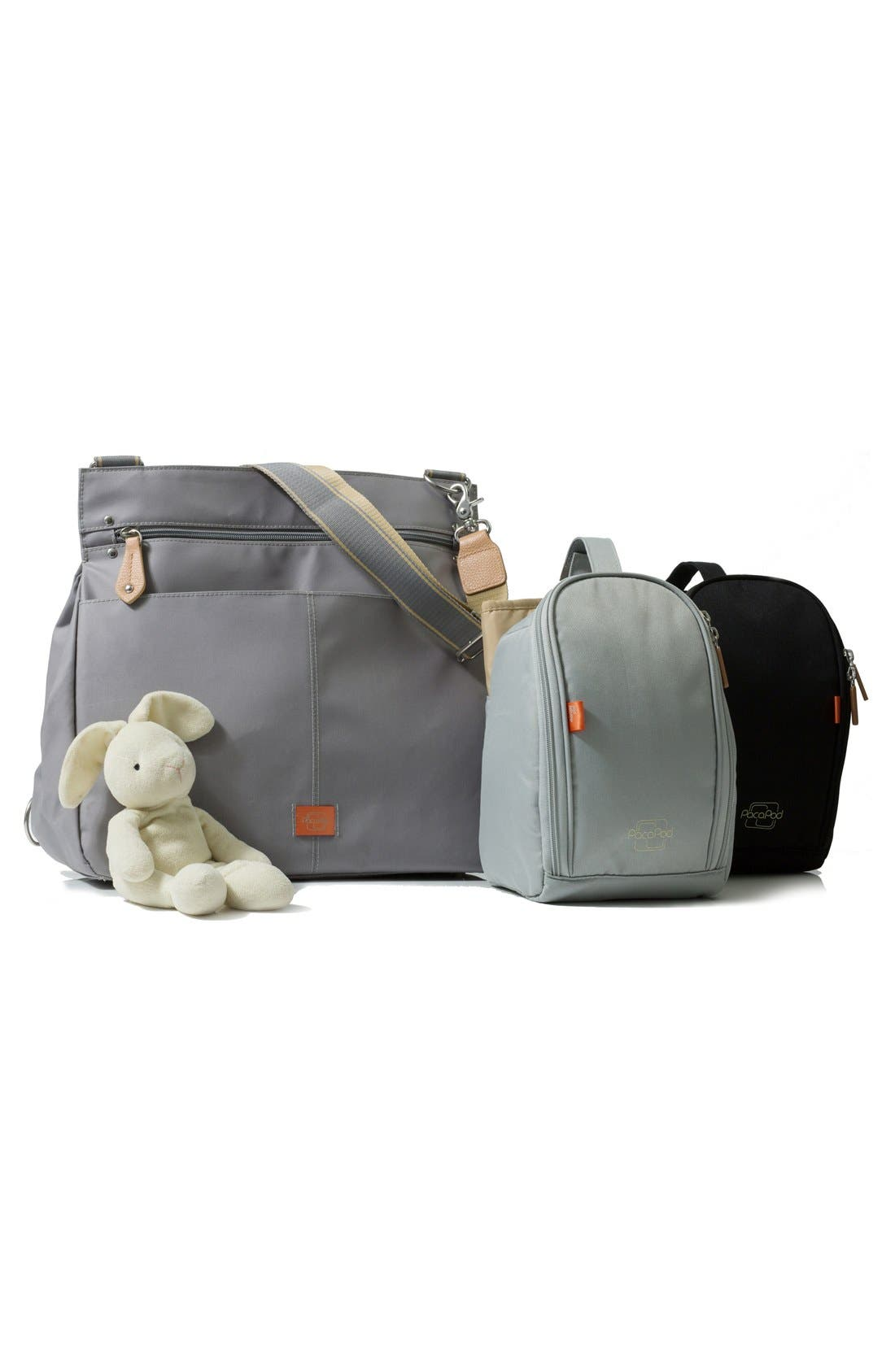 'Oban' Diaper Bag,                             Alternate thumbnail 3, color,                             Elephant