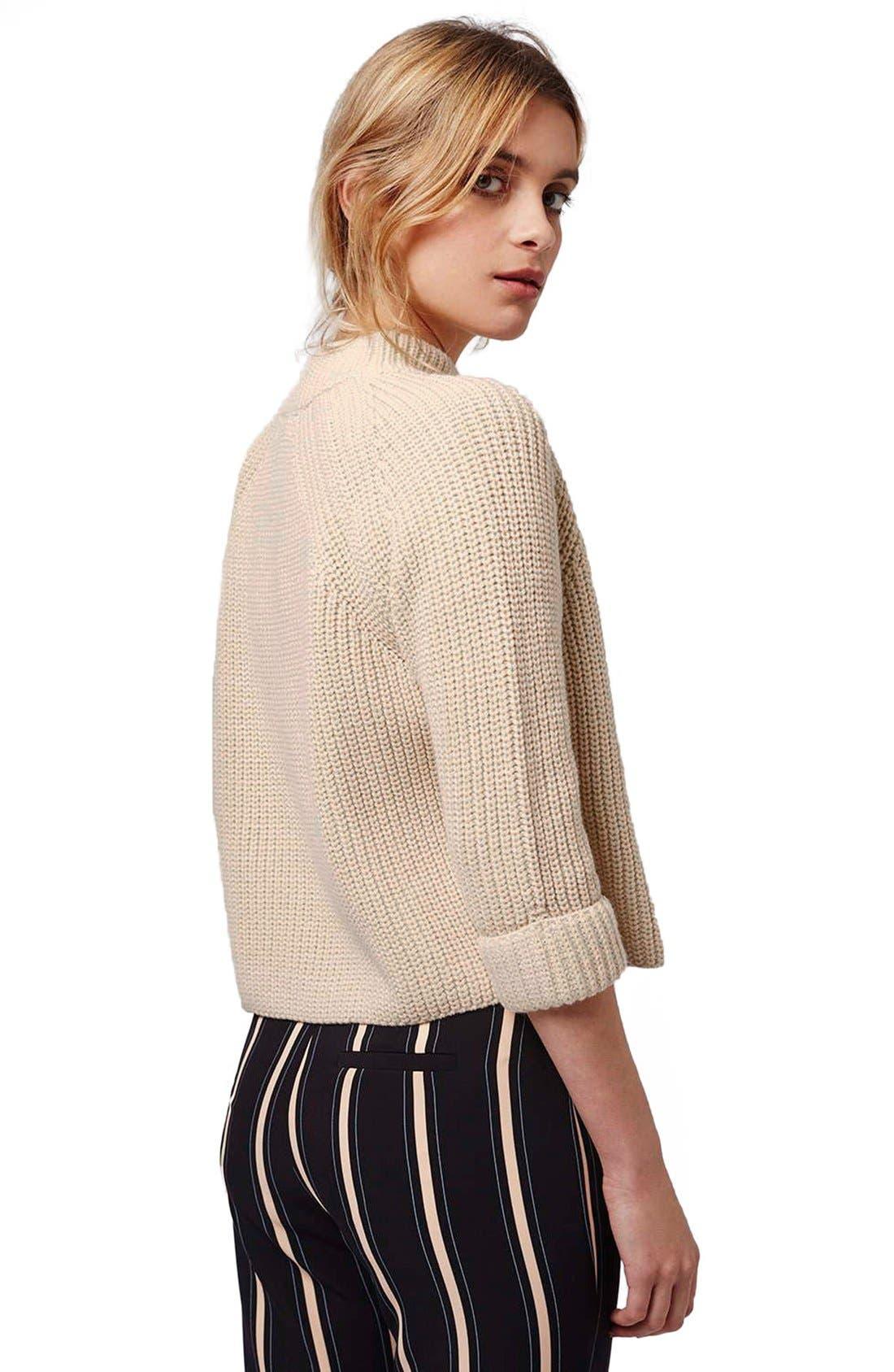 Alternate Image 3  - Topshop Mock Neck Raglan Sweater (Petite)