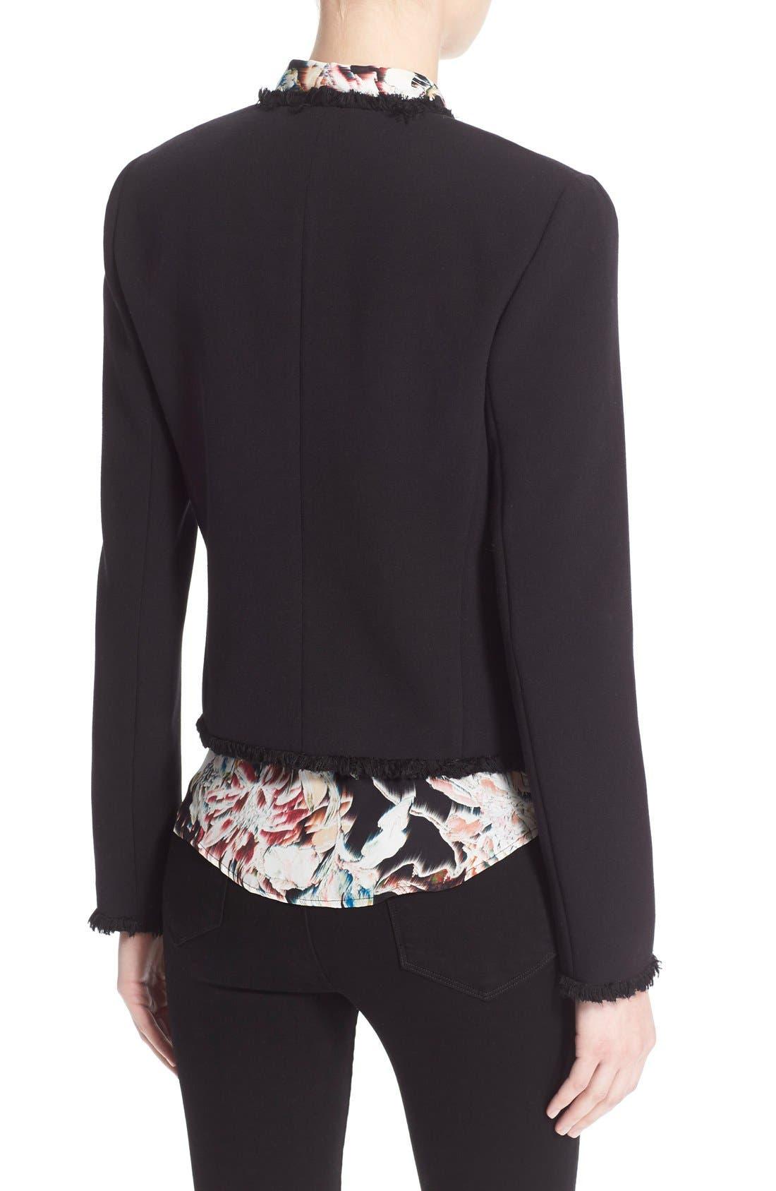 Alternate Image 2  - L'AGENCE Fringe Trim Tailored Jacket