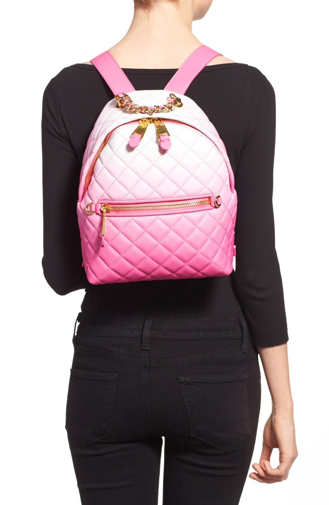 Alternate Image 2  - Moschino 'Letters' Dégradé Quilted Nappa Leather Backpack