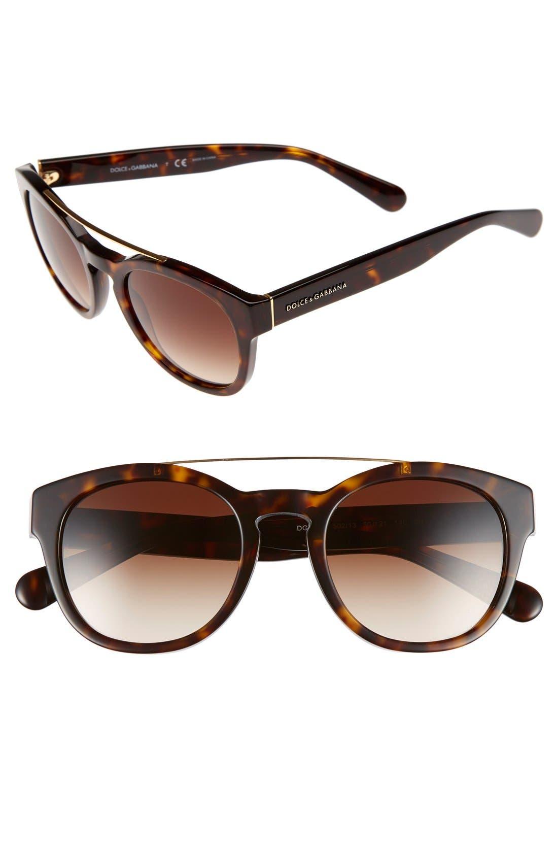 Alternate Image 1 Selected - Dolce&Gabbana 50mm Sunglasses
