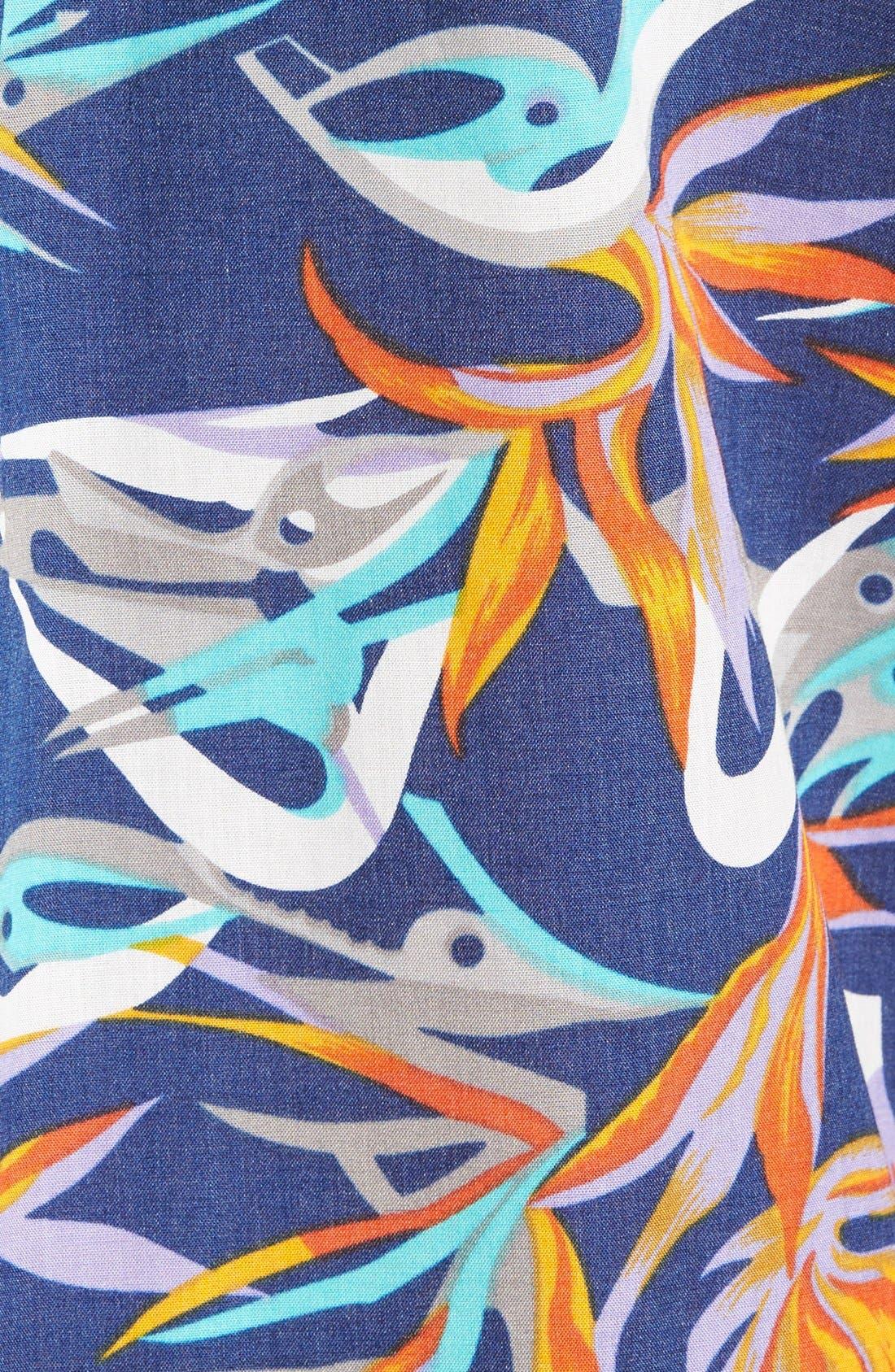 'Go To' Slim Fit Short Sleeve Sport Shirt,                             Alternate thumbnail 5, color,                             Piton Paradise/ Channel Blue