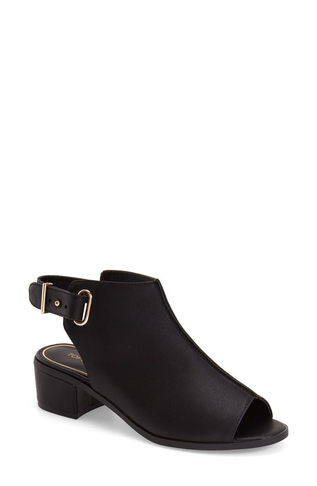 Alternate Image 1 Selected - Topshop 'Nix' Slingback Block Heel Sandal (Women)