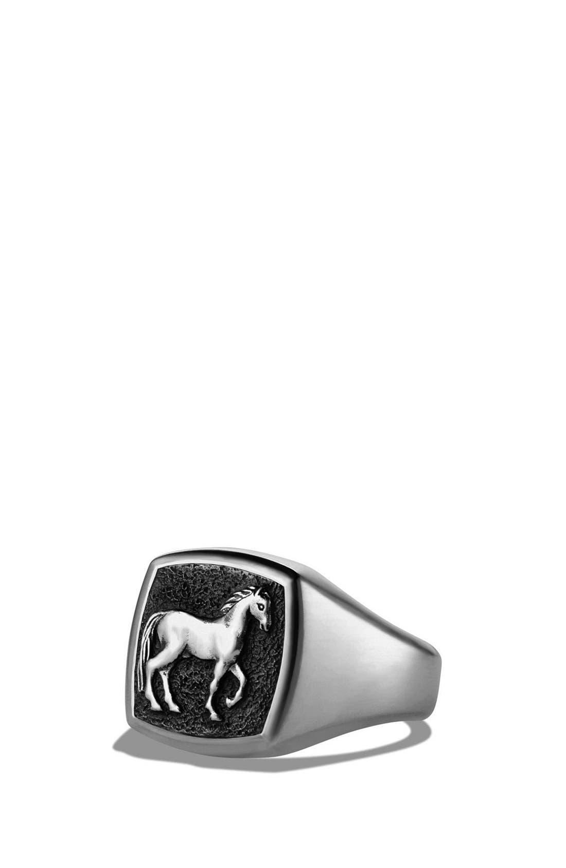 DAVID YURMAN Petrvs Horse Pinky Ring