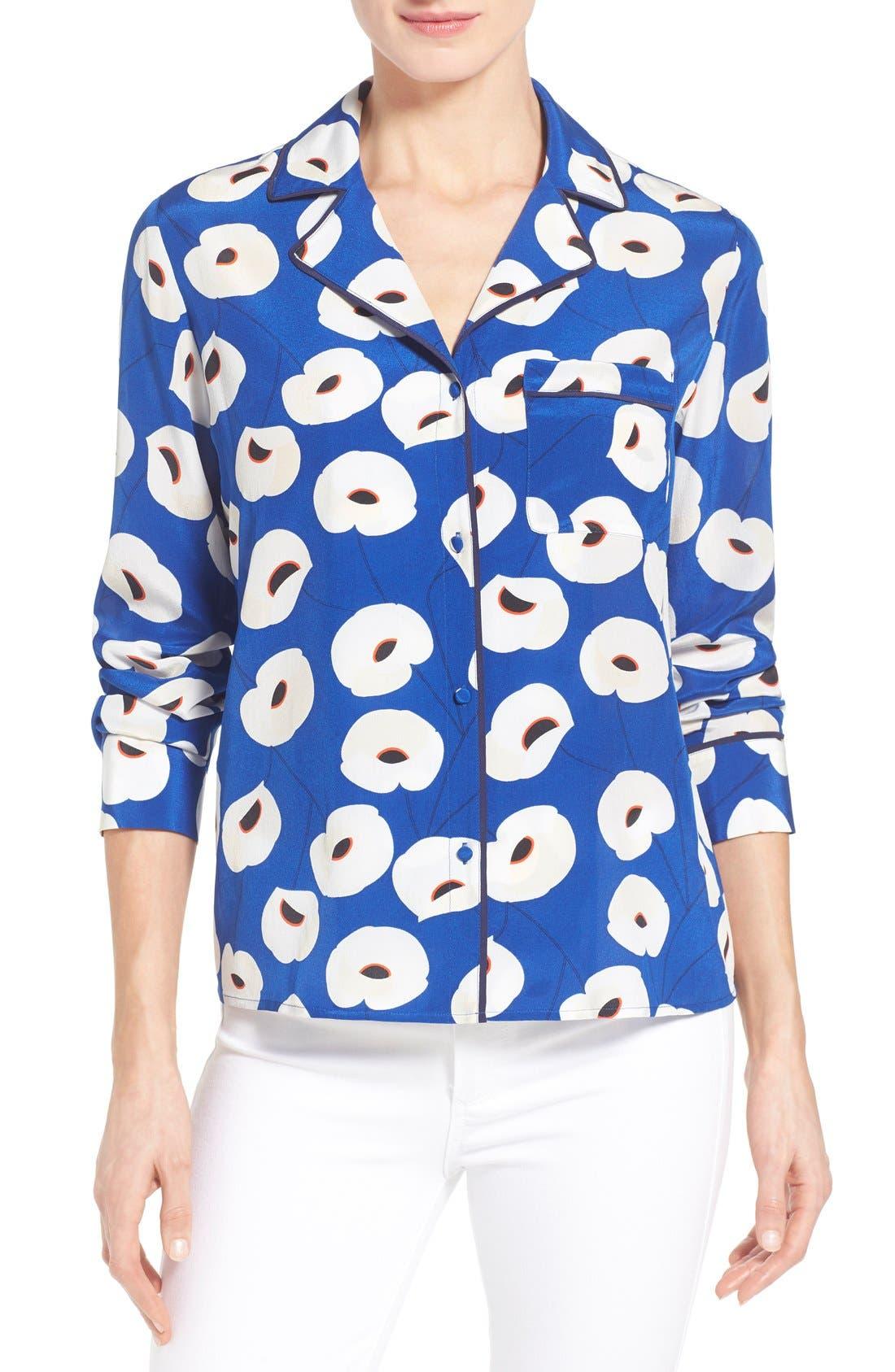 Main Image - Olivia Palermo + Chelsea28 Silk Shirt