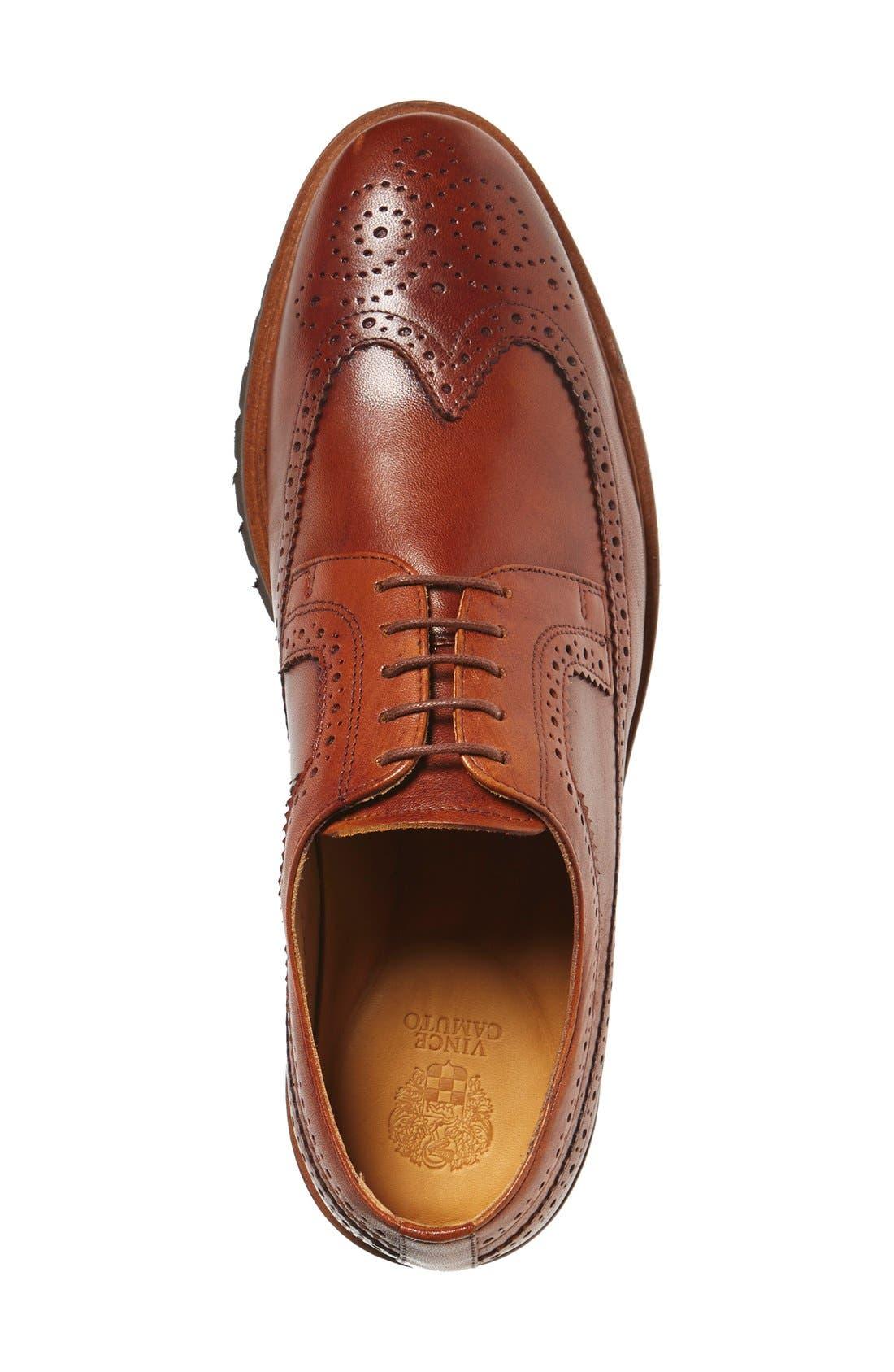 'Loven' Wingtip Derby,                             Alternate thumbnail 3, color,                             Cognac Leather