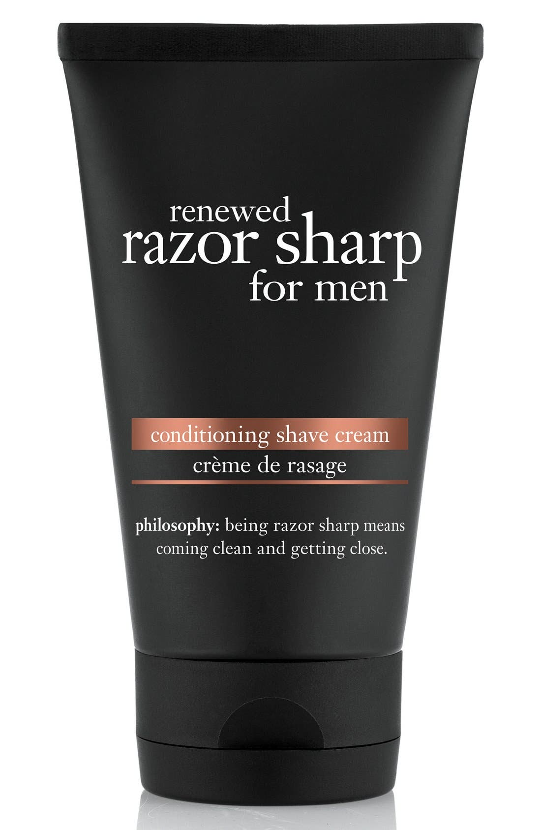 philosophy 'renewed razor sharp' cleansing shave cream for men